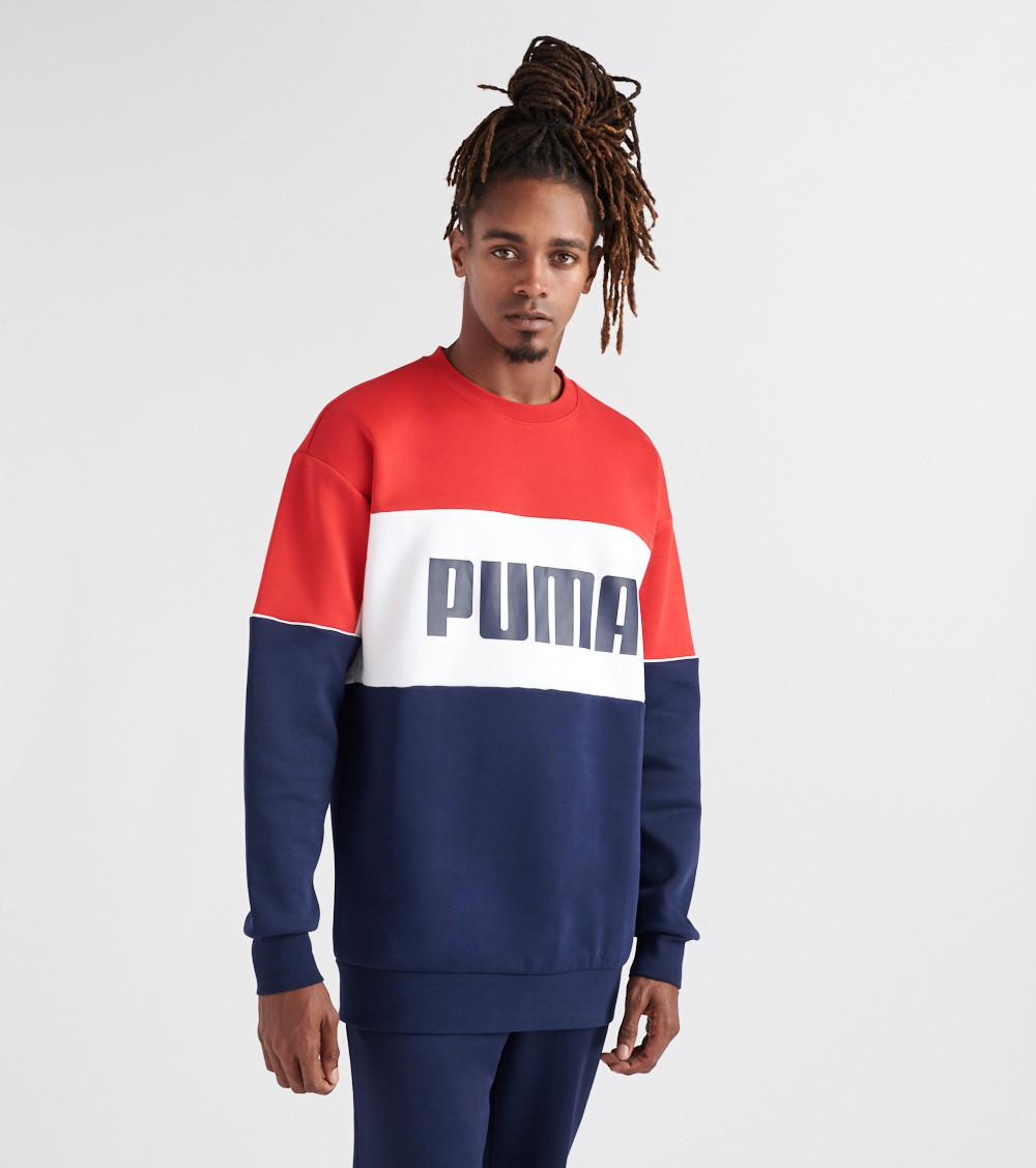 87e4dd84d793 Crew Sweatshirt For Lyst Men Red Puma Retro In 1qBBPEv8w