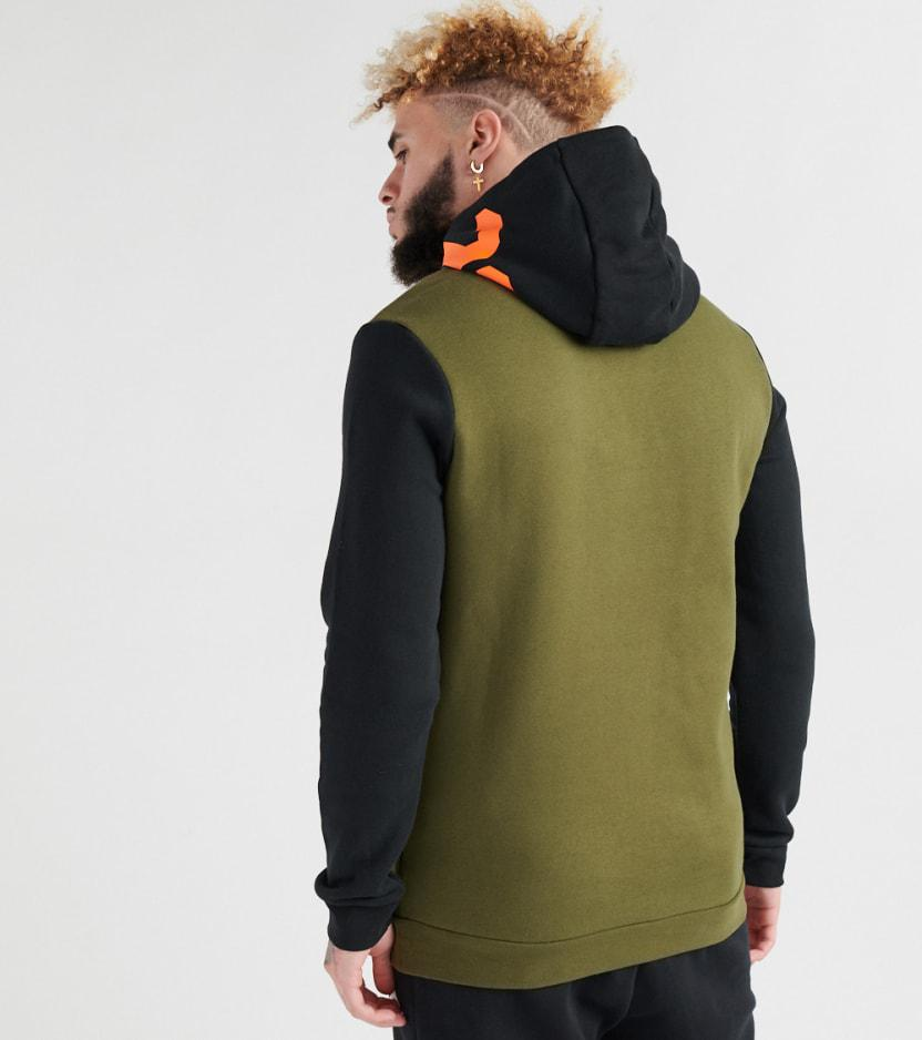 a7cbe0d5473f5f Lyst - Nike Jumpman Air Gfx Pullover Hoodie in Green for Men