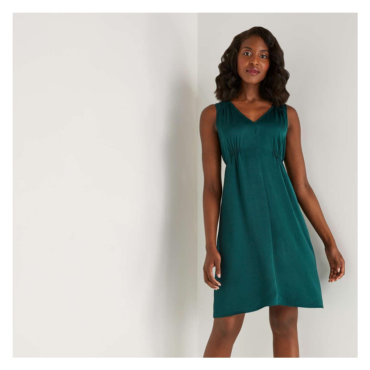 1aca4ad37321f Joe Fresh. Women s Hammered Satin Sleeveless Dress
