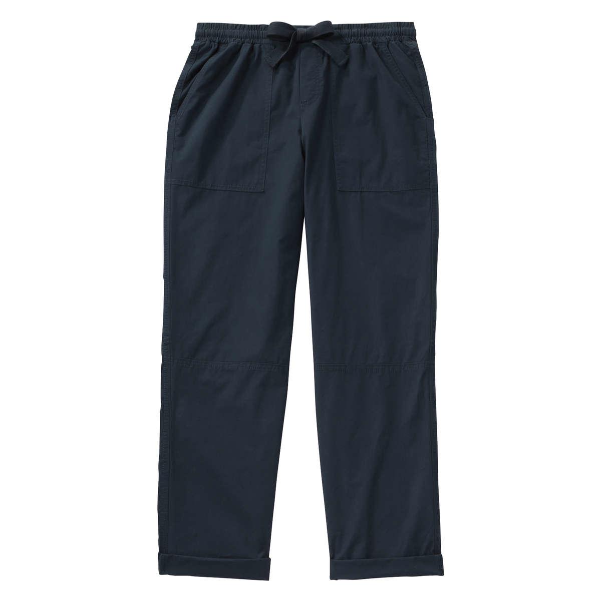 Joe Fresh Casual Poplin Pant In Blue