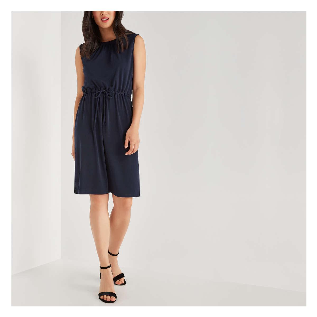 Joe Fresh Cinched Waist Dress in Blue - Lyst ab3bb5f56