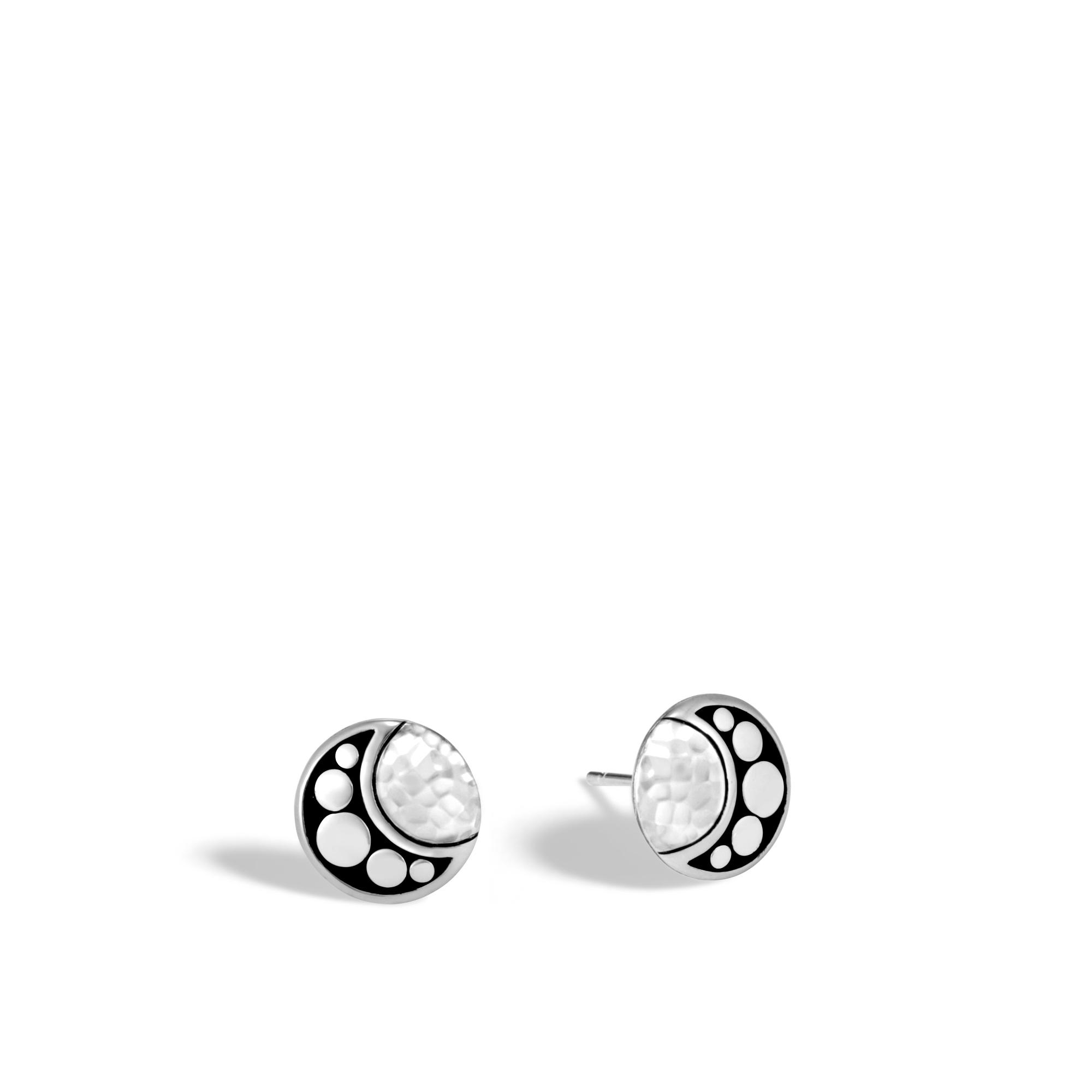 John Hardy Moon Phase Hammered Stud Earring 1WX0r