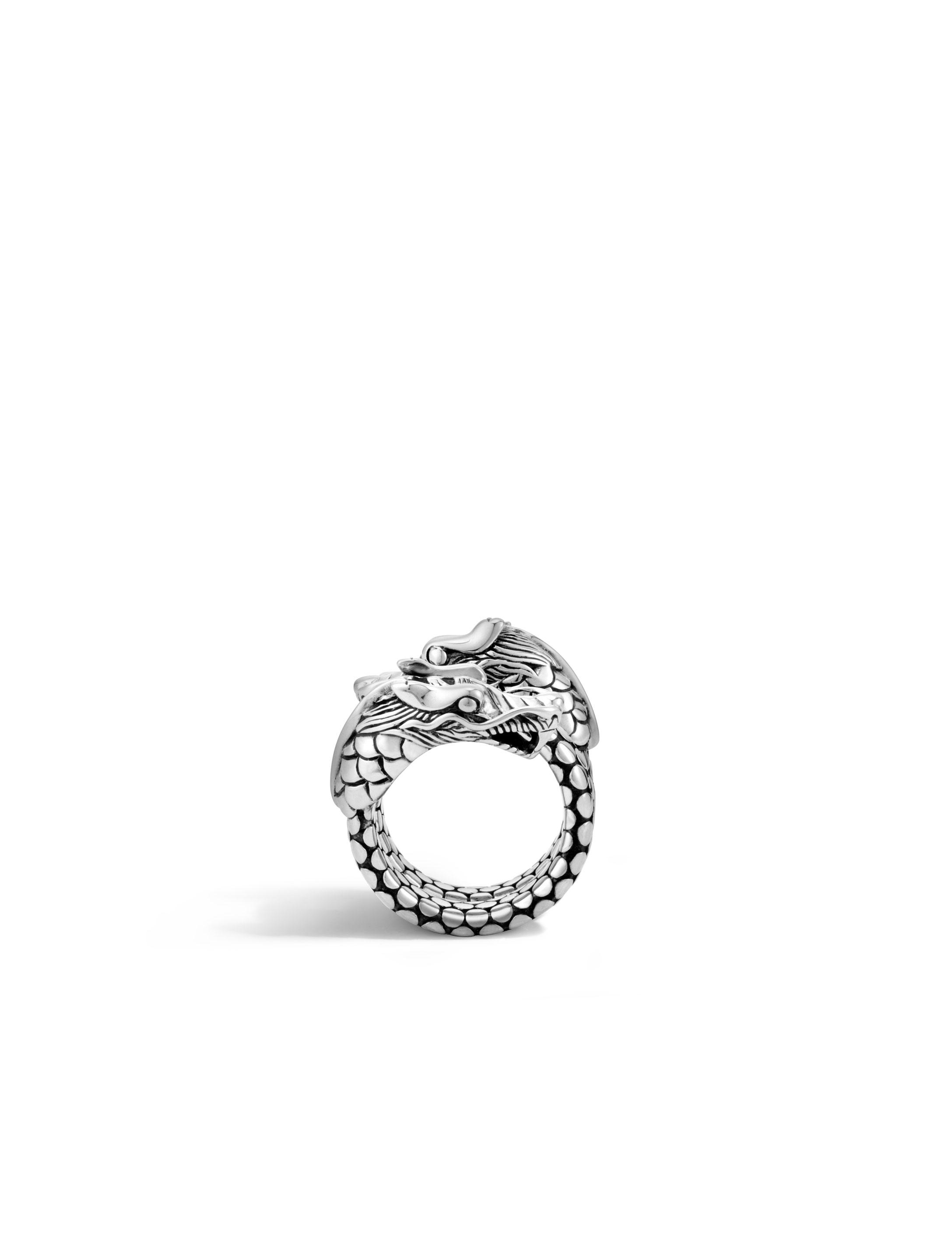 John Hardy Naga Coil Ring With Diamonds TbYNIvP7f