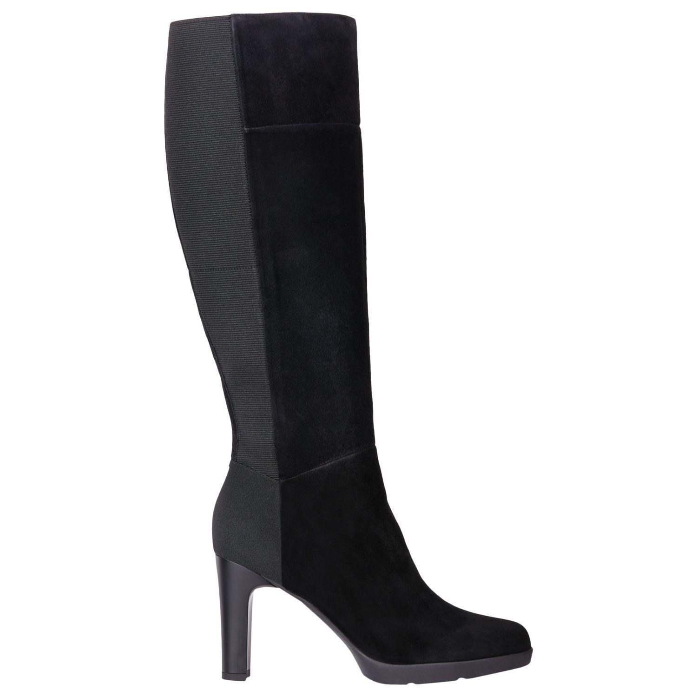 6b8562c27ba Geox Women s Annya Block Heel Knee High Boots in Black - Lyst