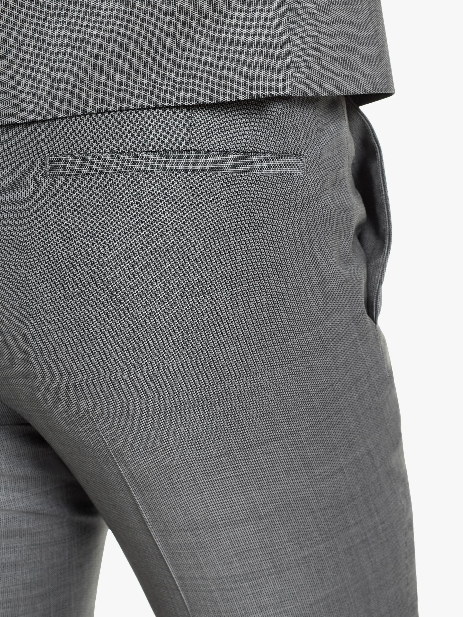 514fa99b BOSS - Gray Hugo By Hesten182 Birdseye Wool Super Slim Suit Trousers for Men  - Lyst. View fullscreen