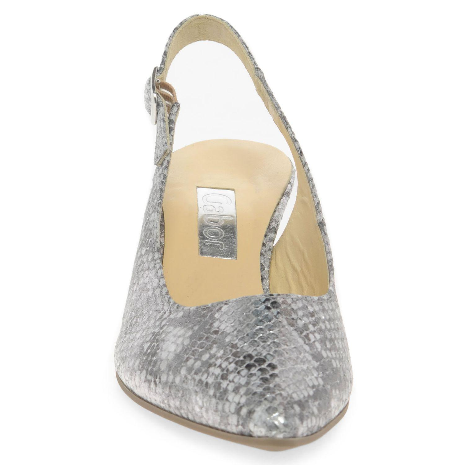 7060f594c36 John Lewis Gabor Hume 2 Slingback Court Shoes in Metallic - Lyst
