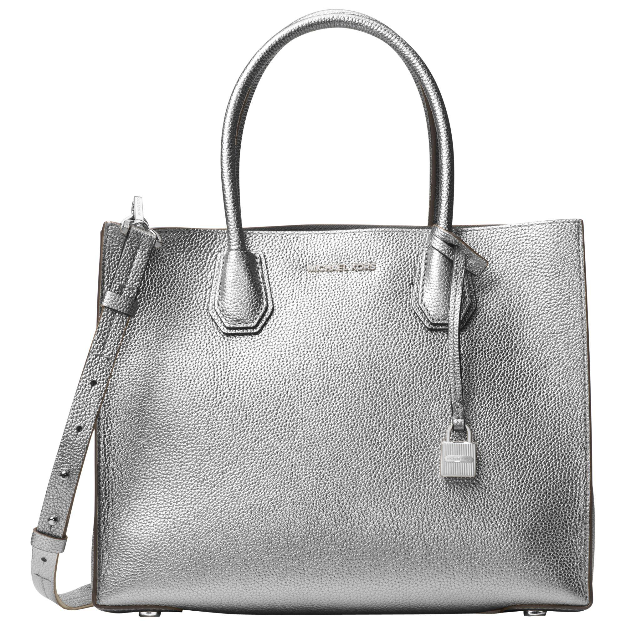 31042f327e2f Michael Kors Michael Mercer Large Leather Tote Bag in Metallic - Lyst