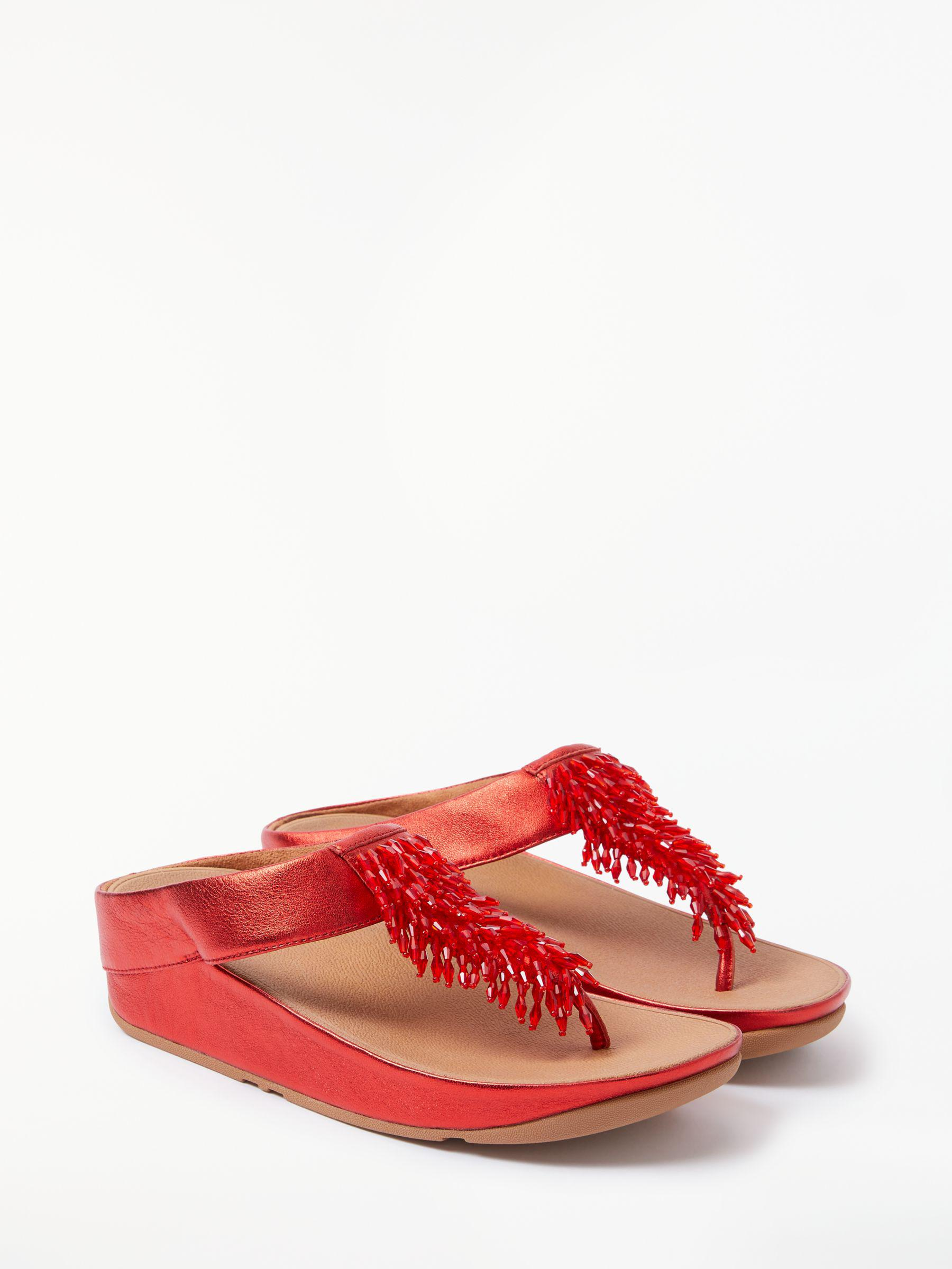 d0bebb861c92 Fitflop Rumba Embellished Toe Post Sandals in Red - Save 40% - Lyst