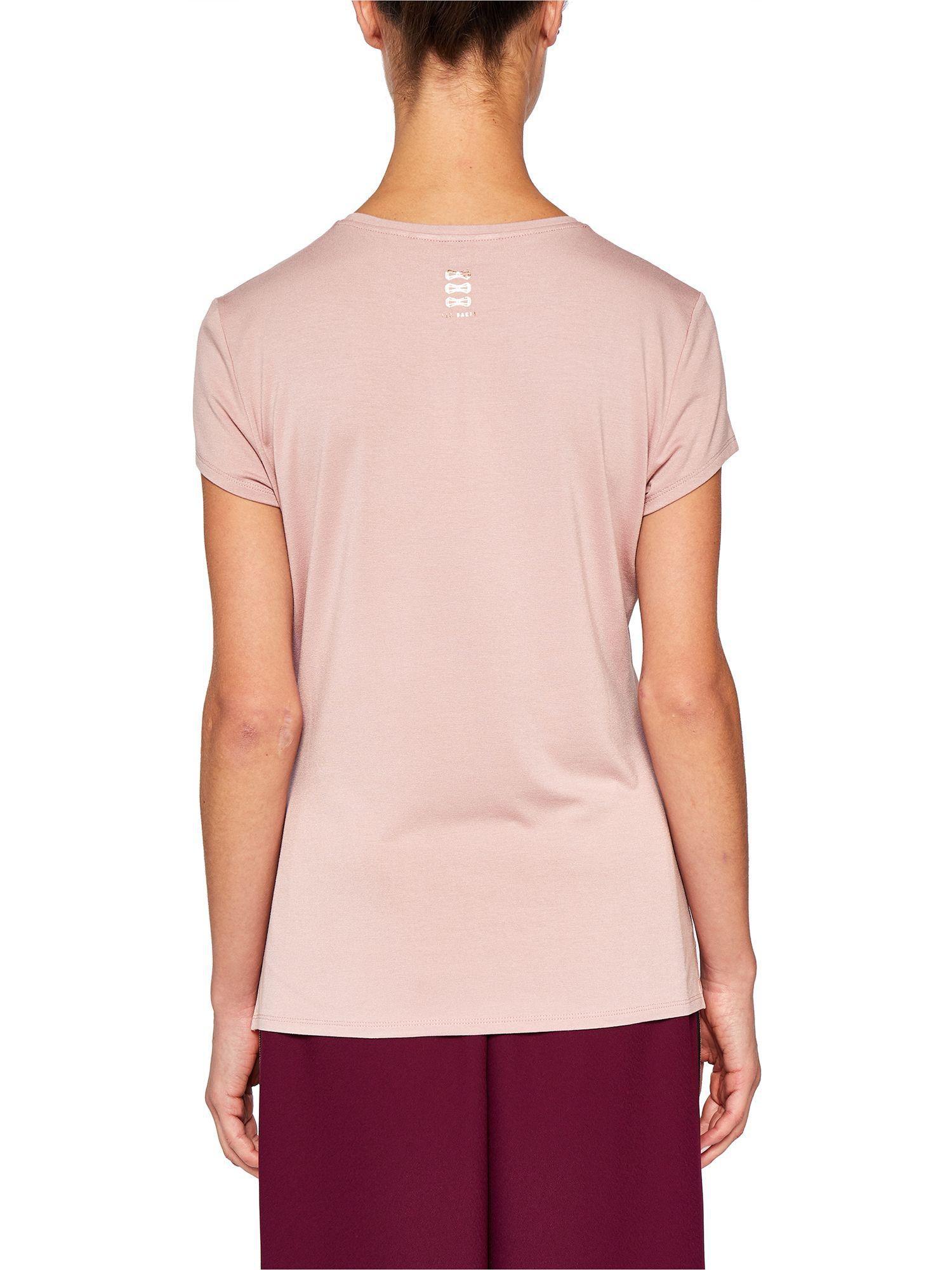 a70946a62 Ted Baker Ted Says Relax Lolyata Wake Me Up For Champagne T-shirt in Pink -  Lyst