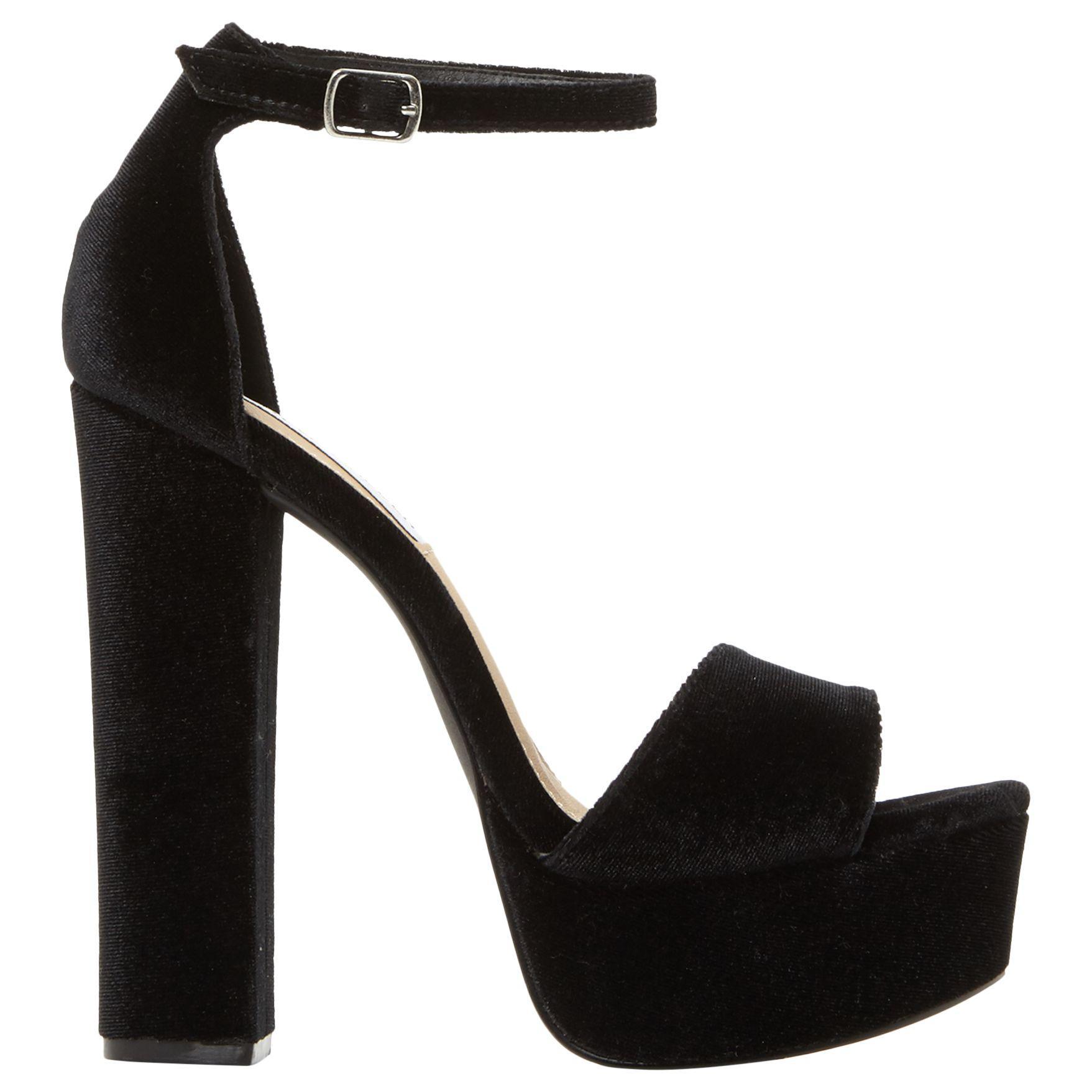 dad5f892ad1 Steve Madden Gonzo Platform Block Heeled Sandals in Black - Lyst