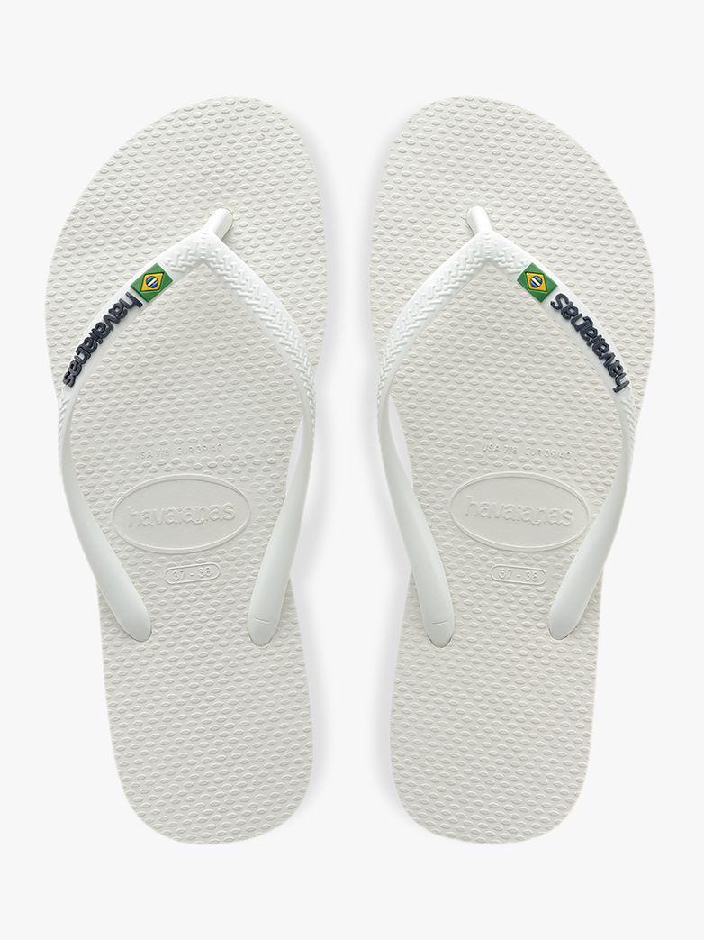 d72259516 Havaianas Plain Flip Flops in White - Lyst