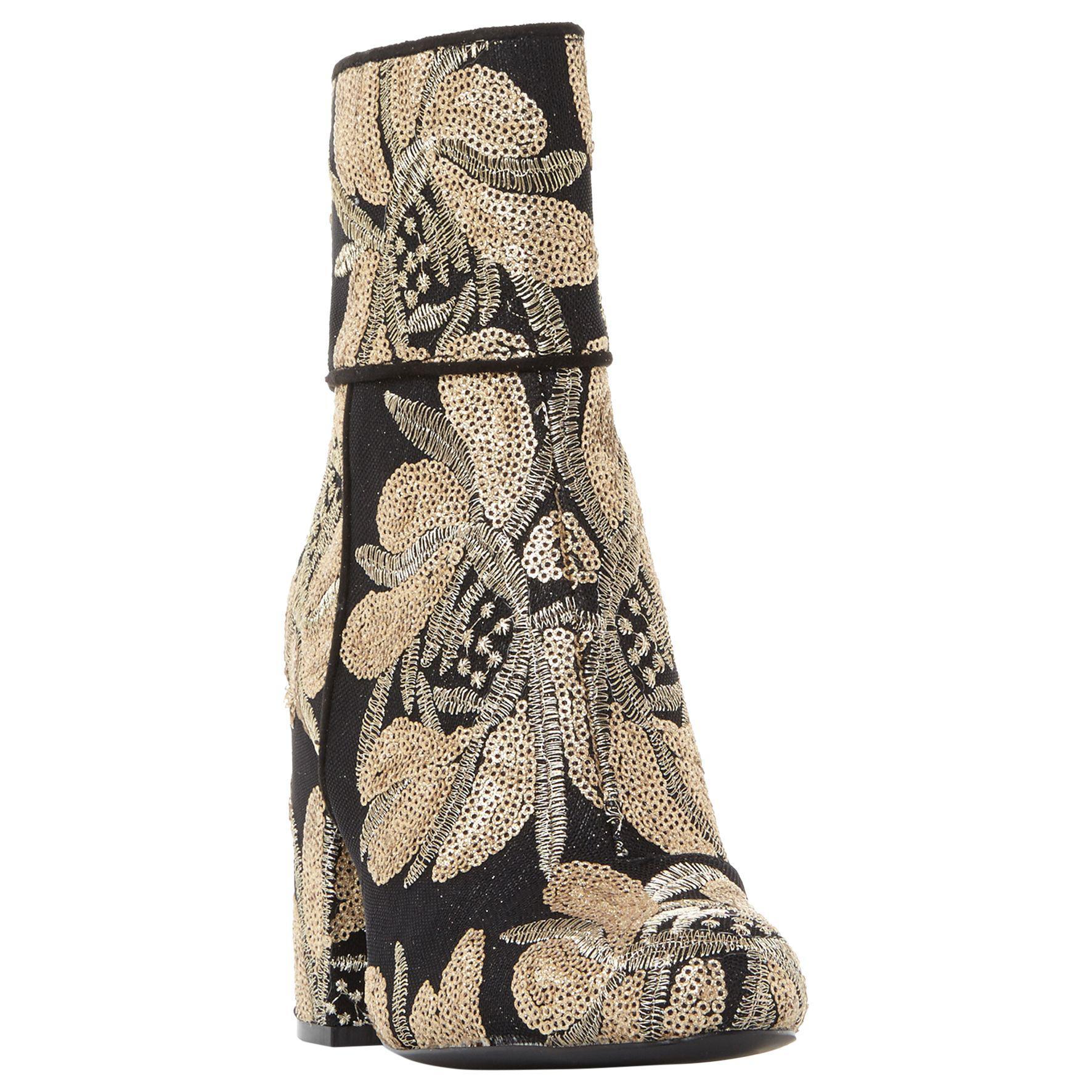 7fd7d7dd7b5 Steve Madden Goldie Embellished Block Heel Ankle Boots - Lyst