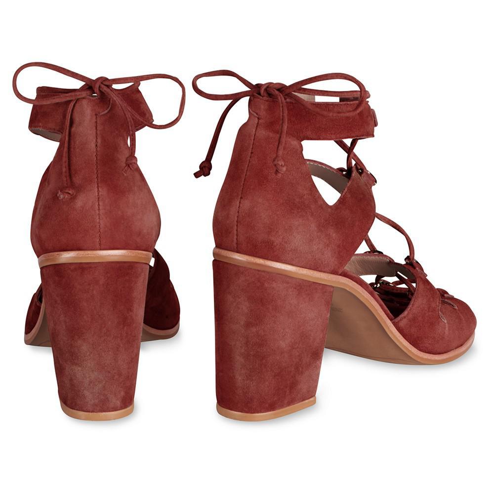 750ce07ee8f Whistles Novara D Ring Block Heeled Sandals - Lyst