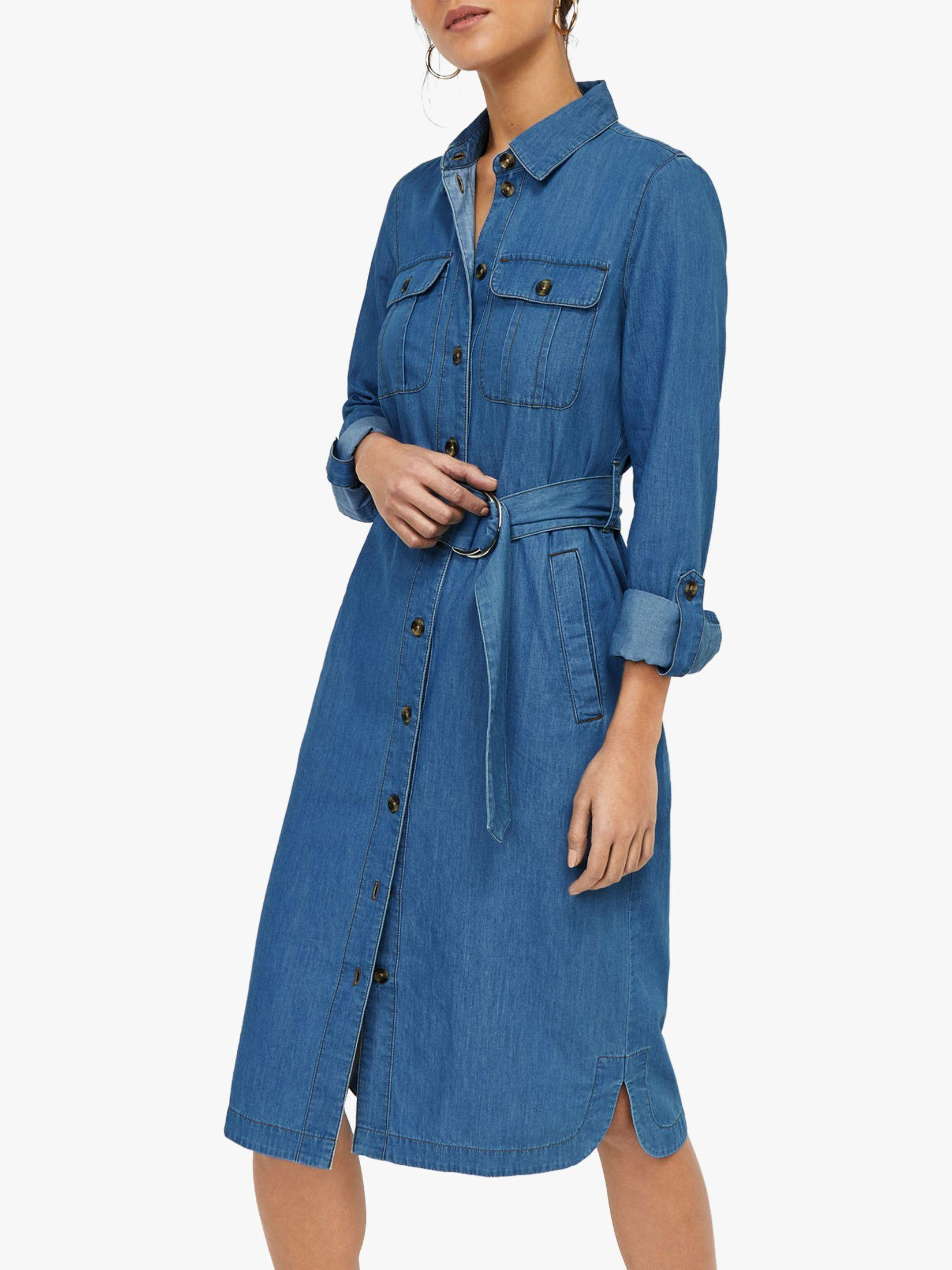 5aba801dd30 Warehouse Denim Shirt Dress in Blue - Save 22% - Lyst