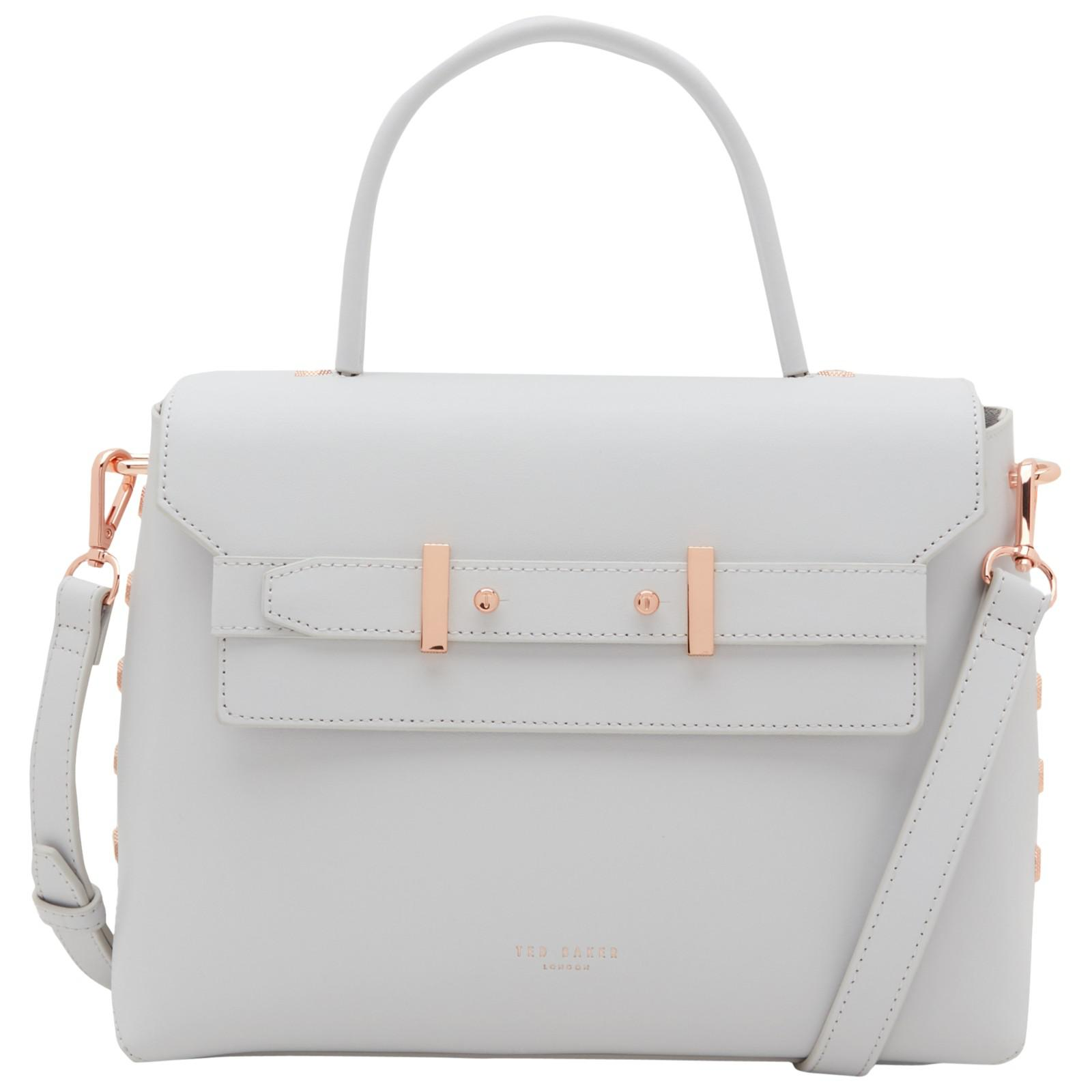 82421d2f3d2 Ted Baker Taymar Stud Edge Lady Leather Across Body Bag in Gray - Lyst