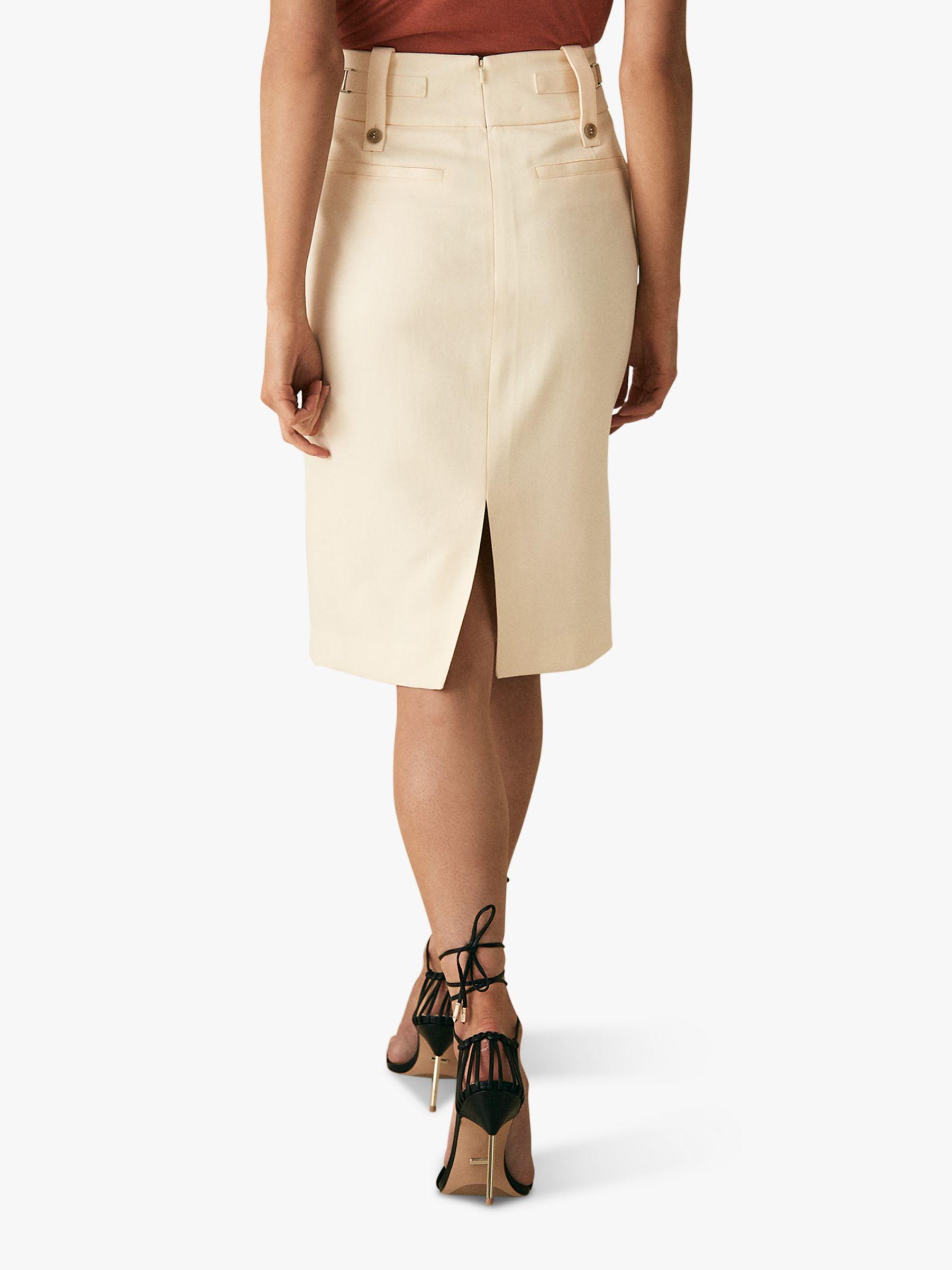 30dba8e2ee Reiss Lennox Pencil Skirt in White - Lyst