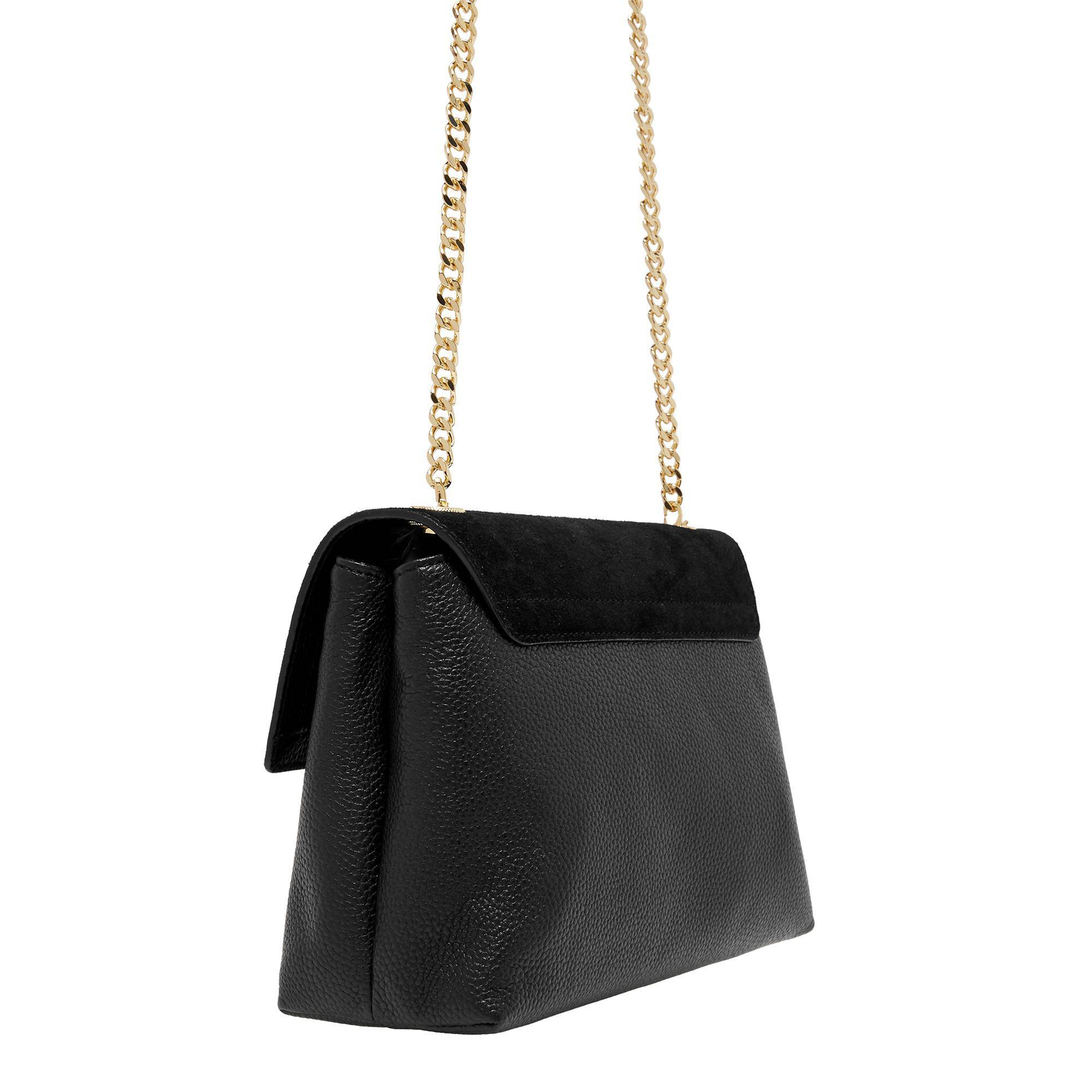 e6f22b7cd0c0 Ted Baker Helena Padlock Detail Leather Cross Body Bag in Black - Lyst