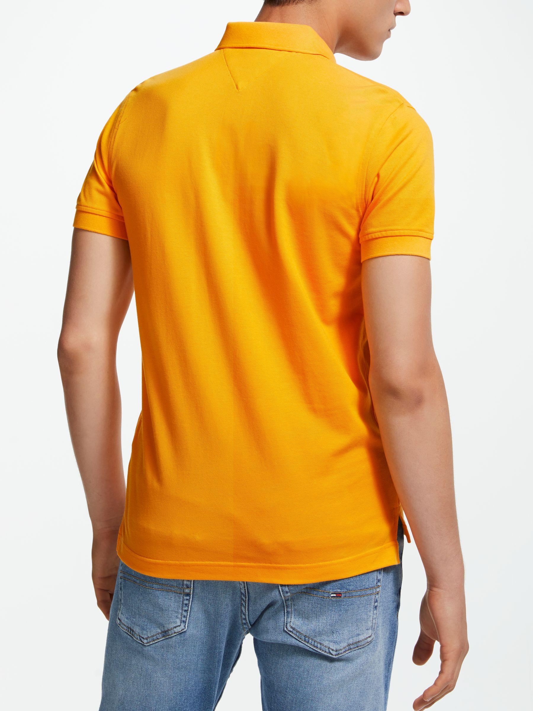 a7609b3af Tommy Hilfiger Regular Fit Short Sleeve Polo Shirt in Yellow for Men ...