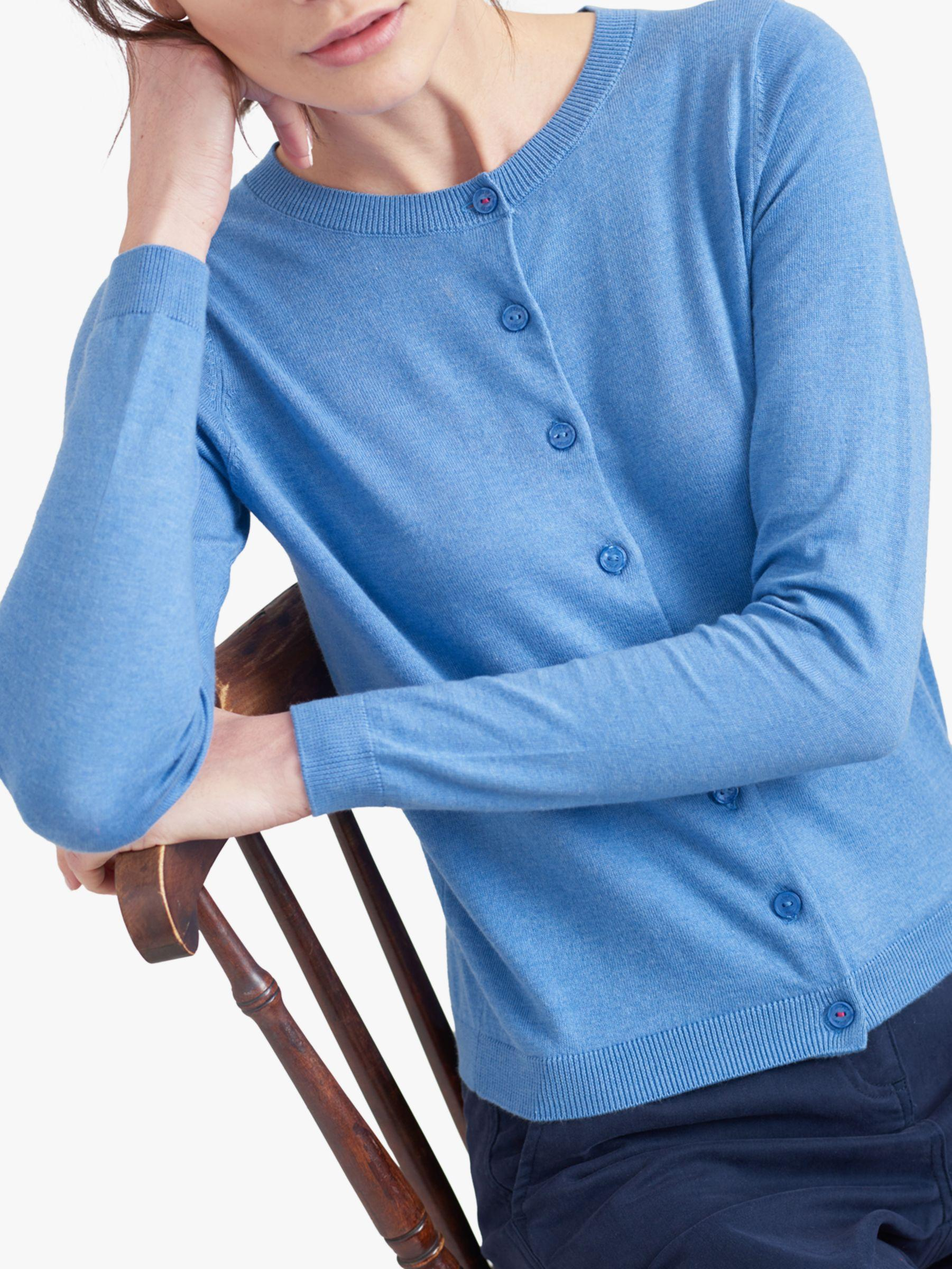 Joules Skye Button Front Cardigan in Blue - Lyst 69498595d