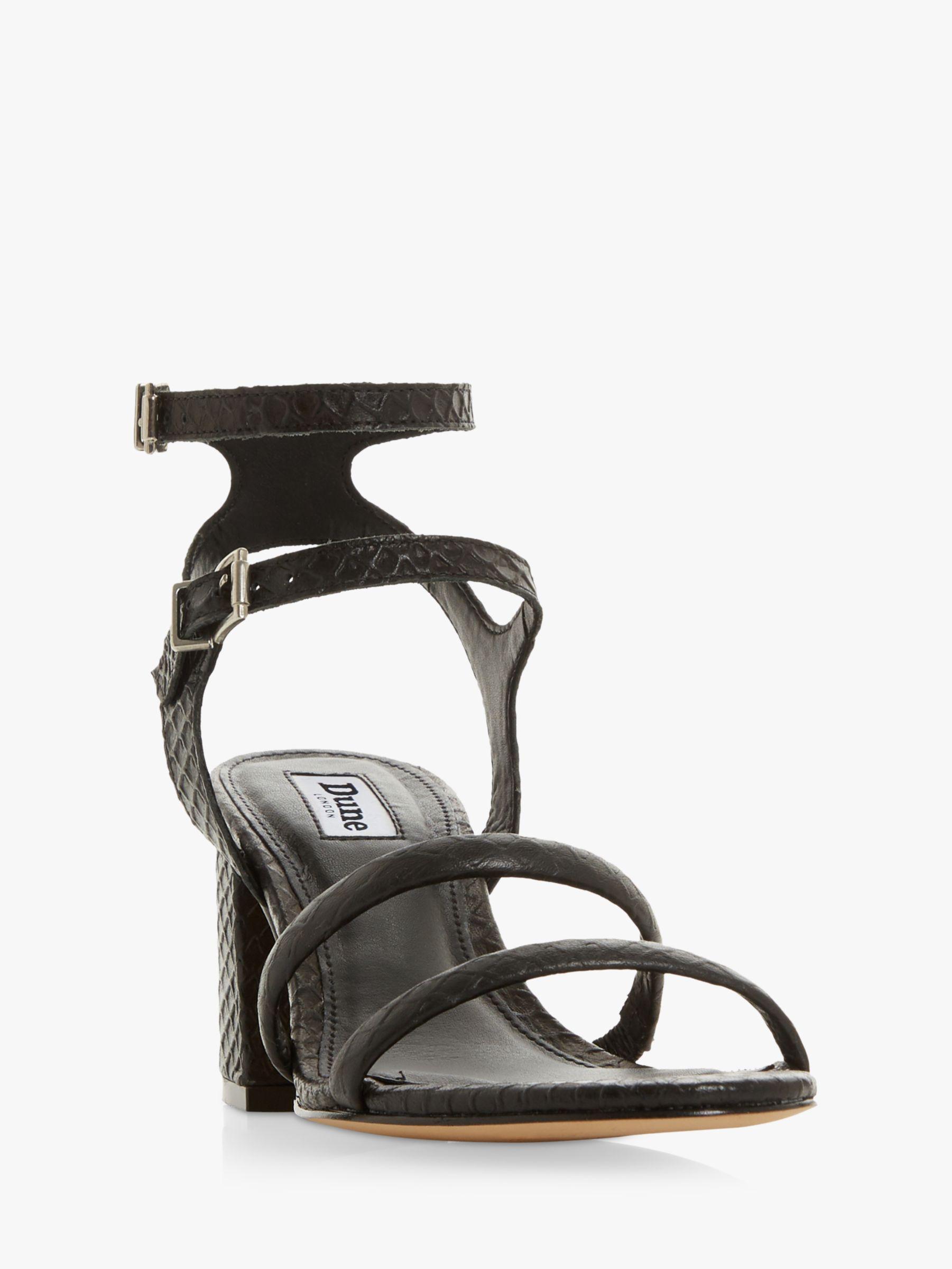 1e3e3c9745 Dune - Black Magnaa Block Heel Sandals - Lyst. View fullscreen