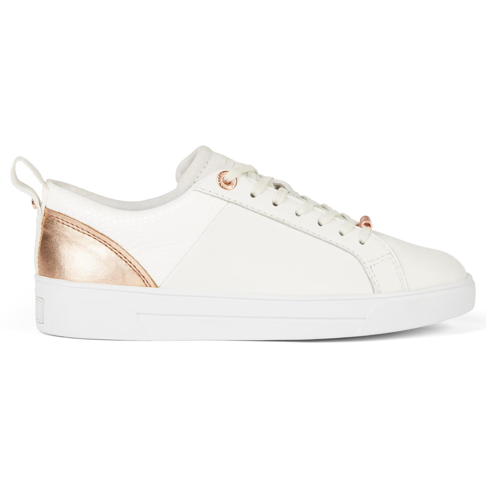 96c88bc46 Ted Baker Kulei Lace Up Trainers in White - Lyst