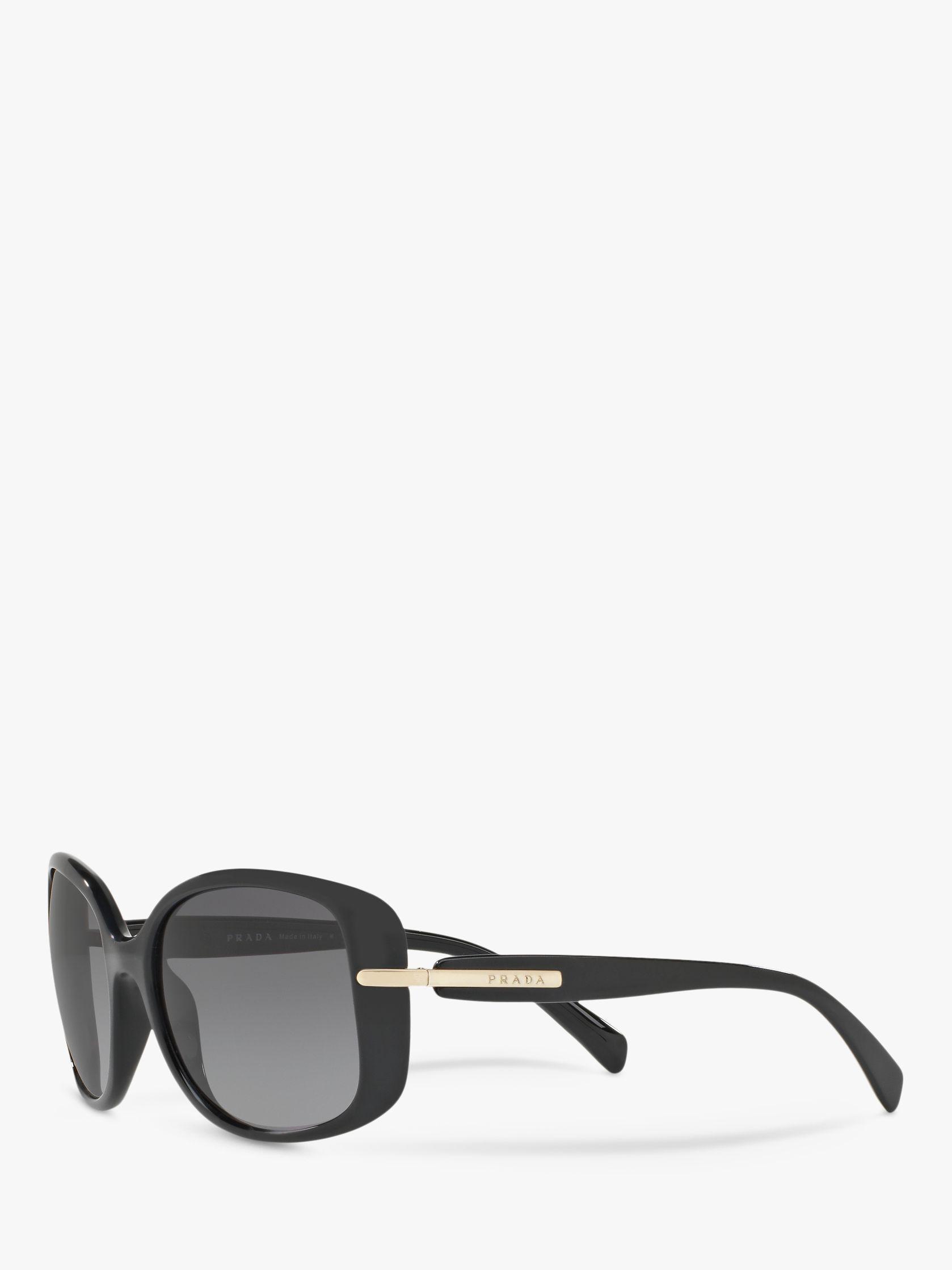 934eed61abe Prada - Black Pr 08os Women s Polarised Rectangular Sunglasses - Lyst. View  fullscreen