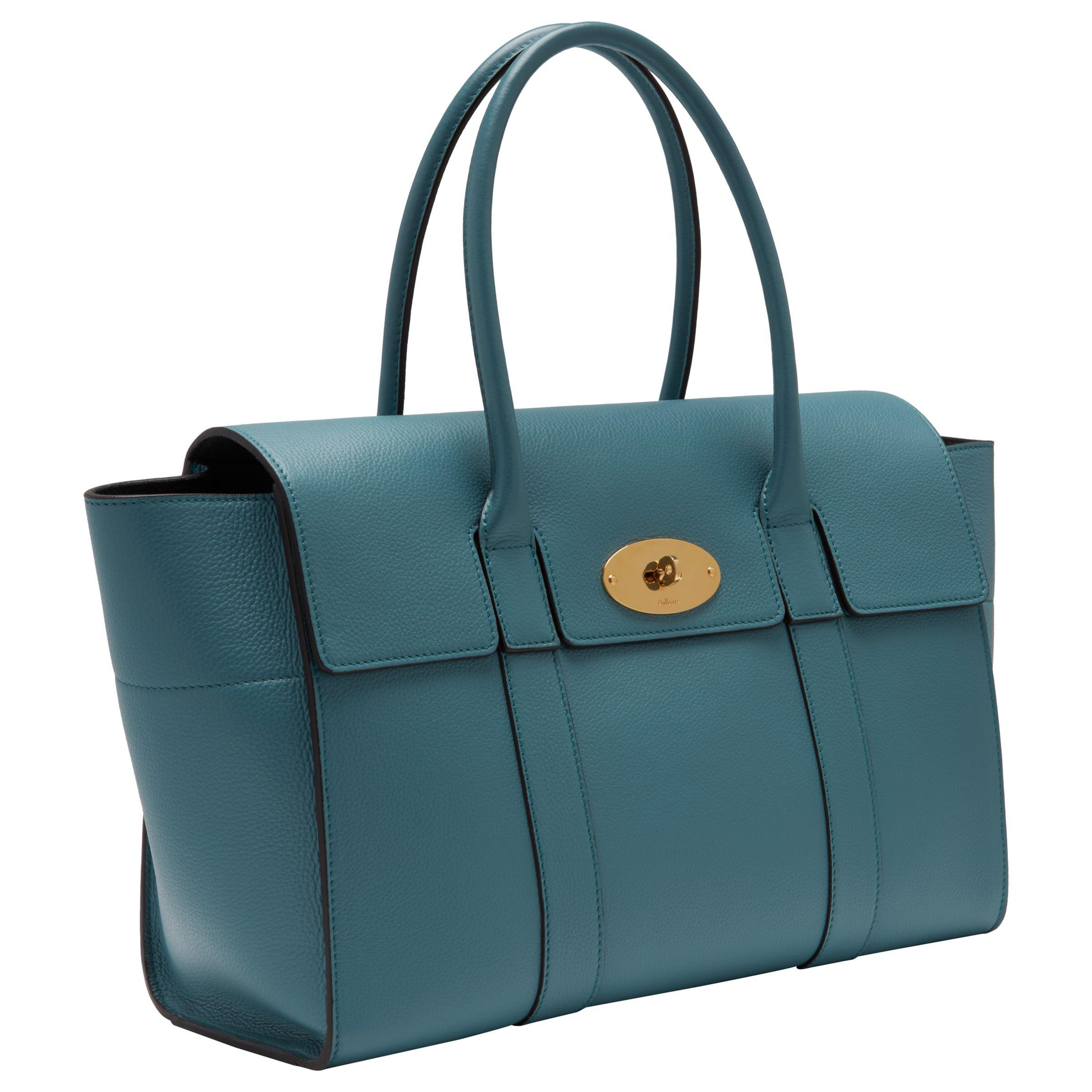 8a26d6d5821 John Lewis Mulberry Bayswater Grain Veg Tan Leather Bag In Blue Lyst