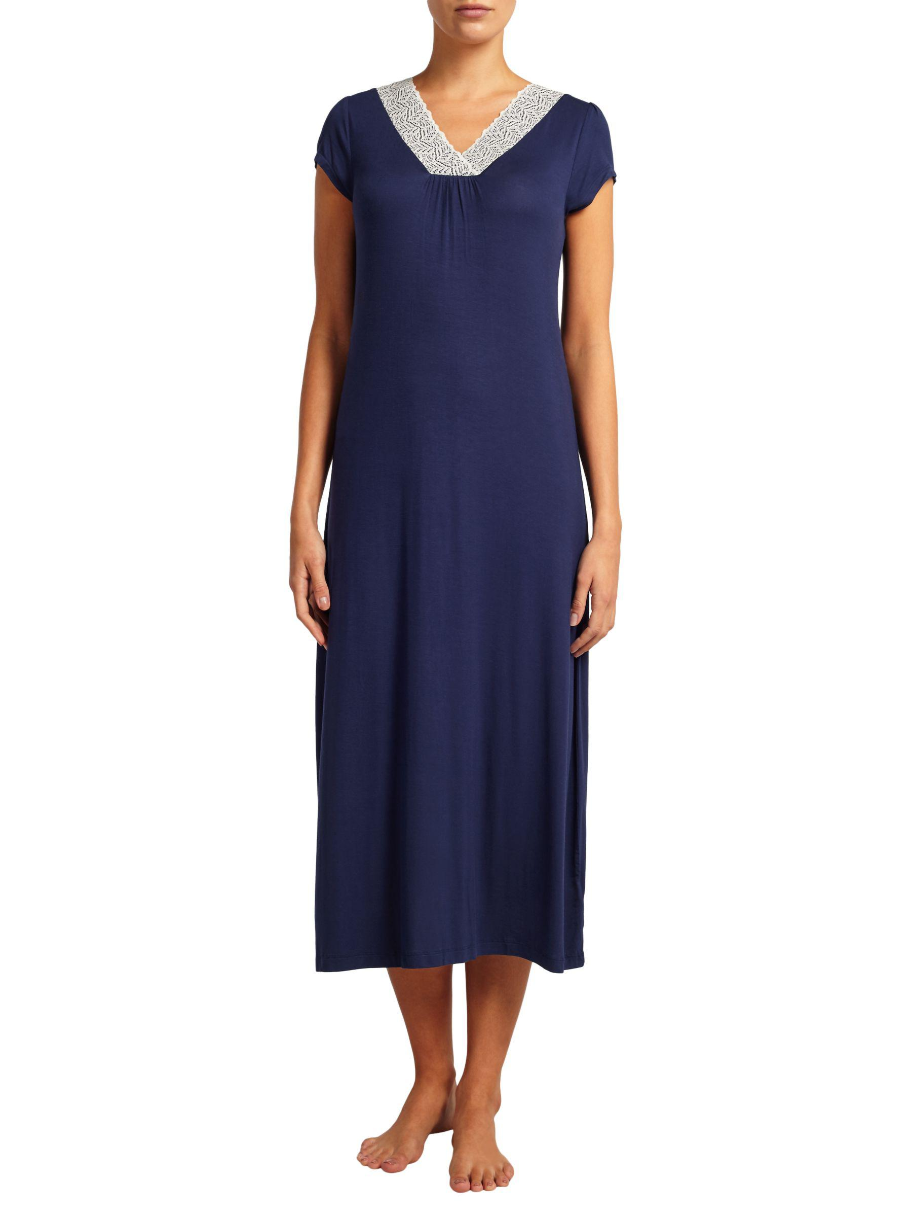 b336bcc5f9 John Lewis Alicia Long Jersey Nightdress in Blue - Lyst