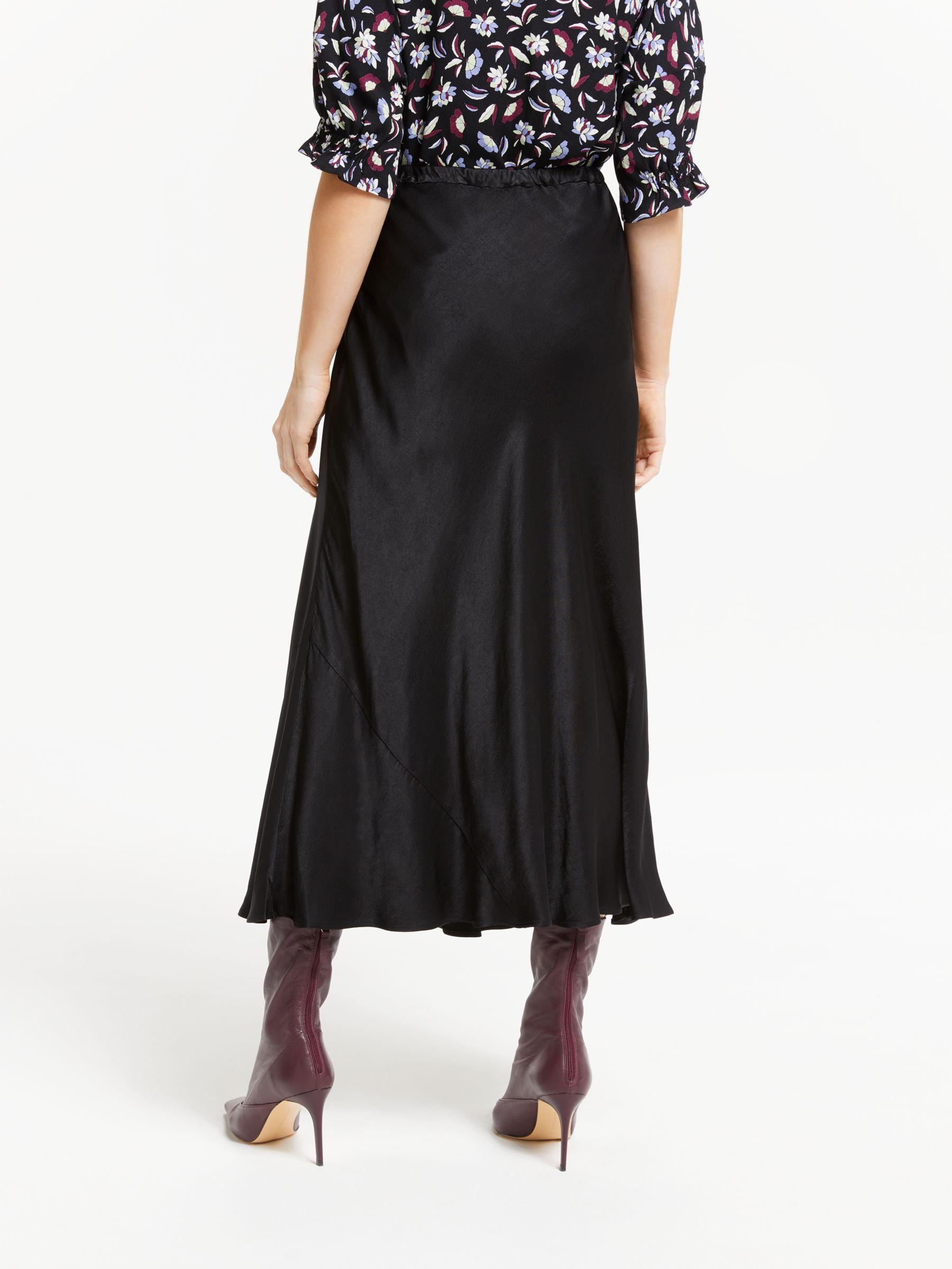 aa80df97f Finery London Alberte Satin Skirt in Black - Lyst