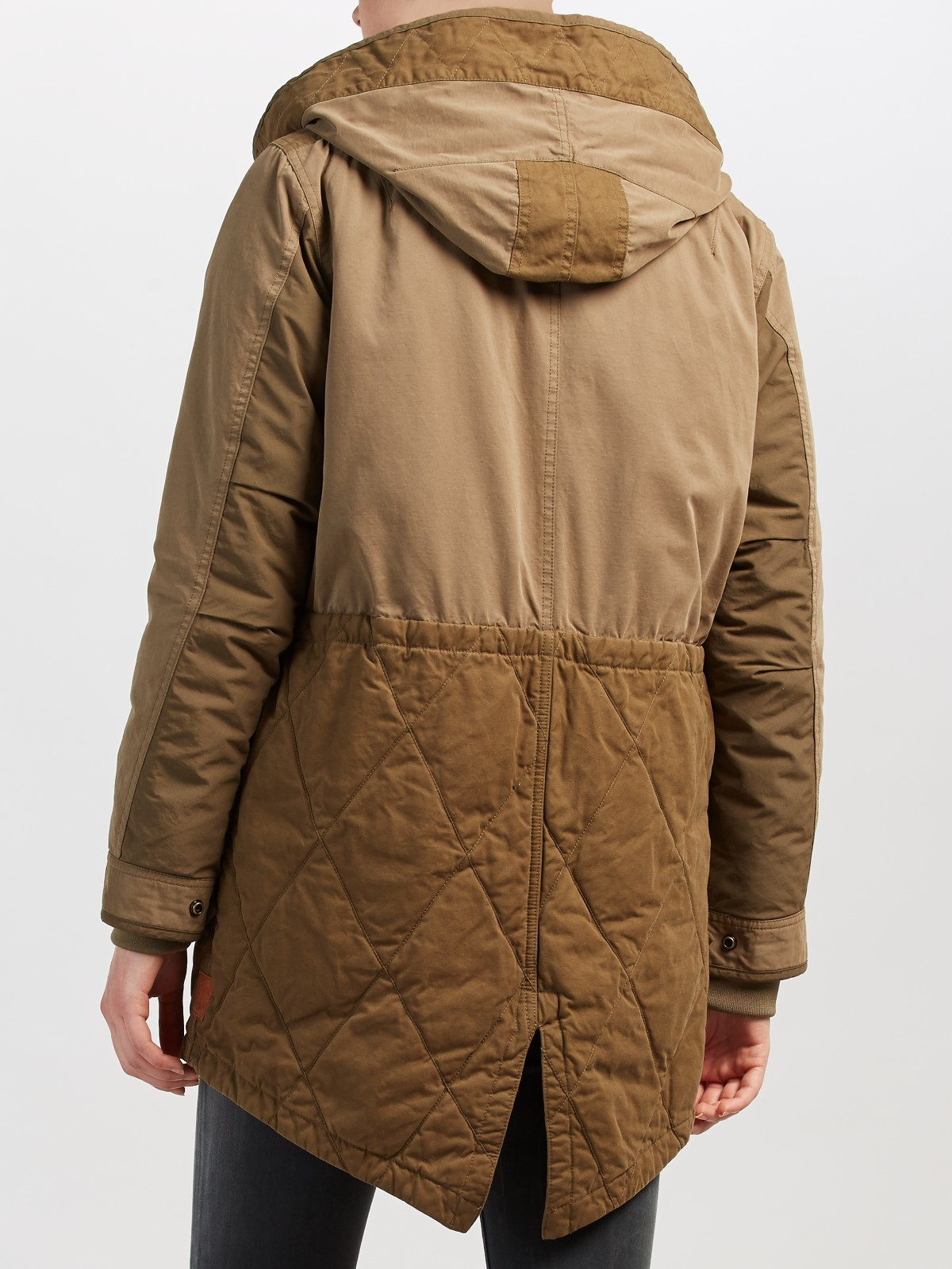 lyst maison scotch hooded parka in green. Black Bedroom Furniture Sets. Home Design Ideas