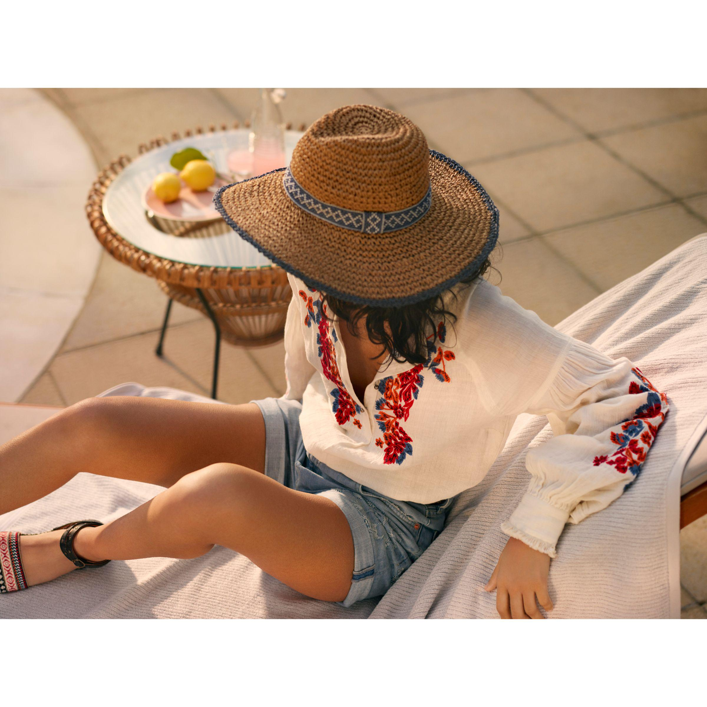 bb1799ad5dc John Lewis And or Aztec Packable Glam Floppy Sun Hat in Natural - Lyst