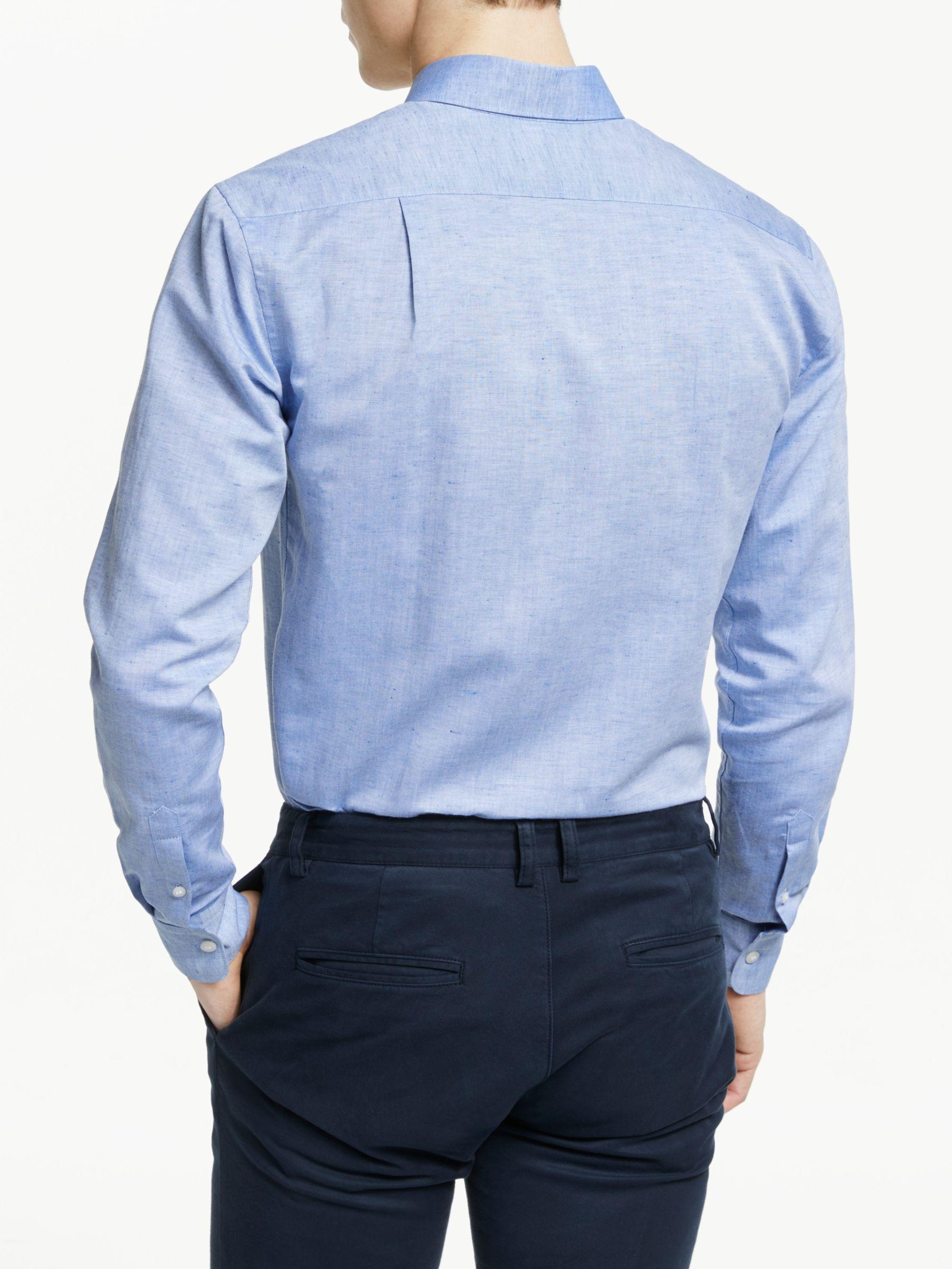 bba802c806df Tiger Of Sweden Fenald Cotton Linen Slim Fit Shirt in Blue for Men - Lyst