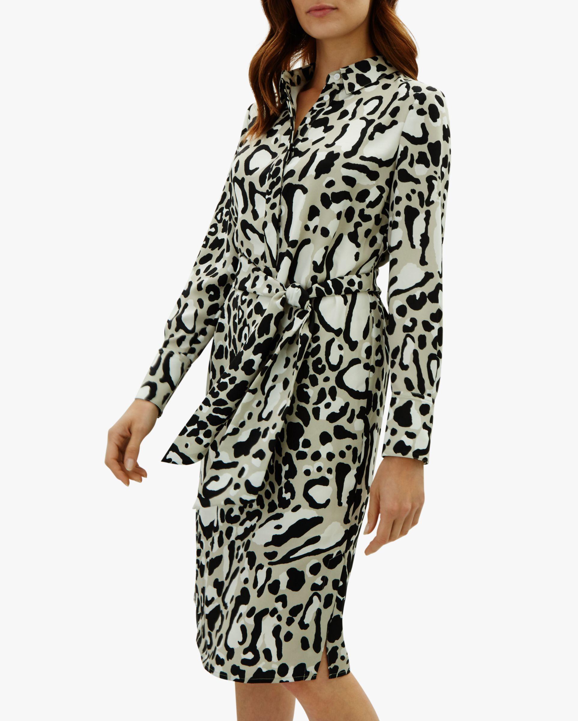 Jaeger. Women s Leopard Print Dress bc0e26538