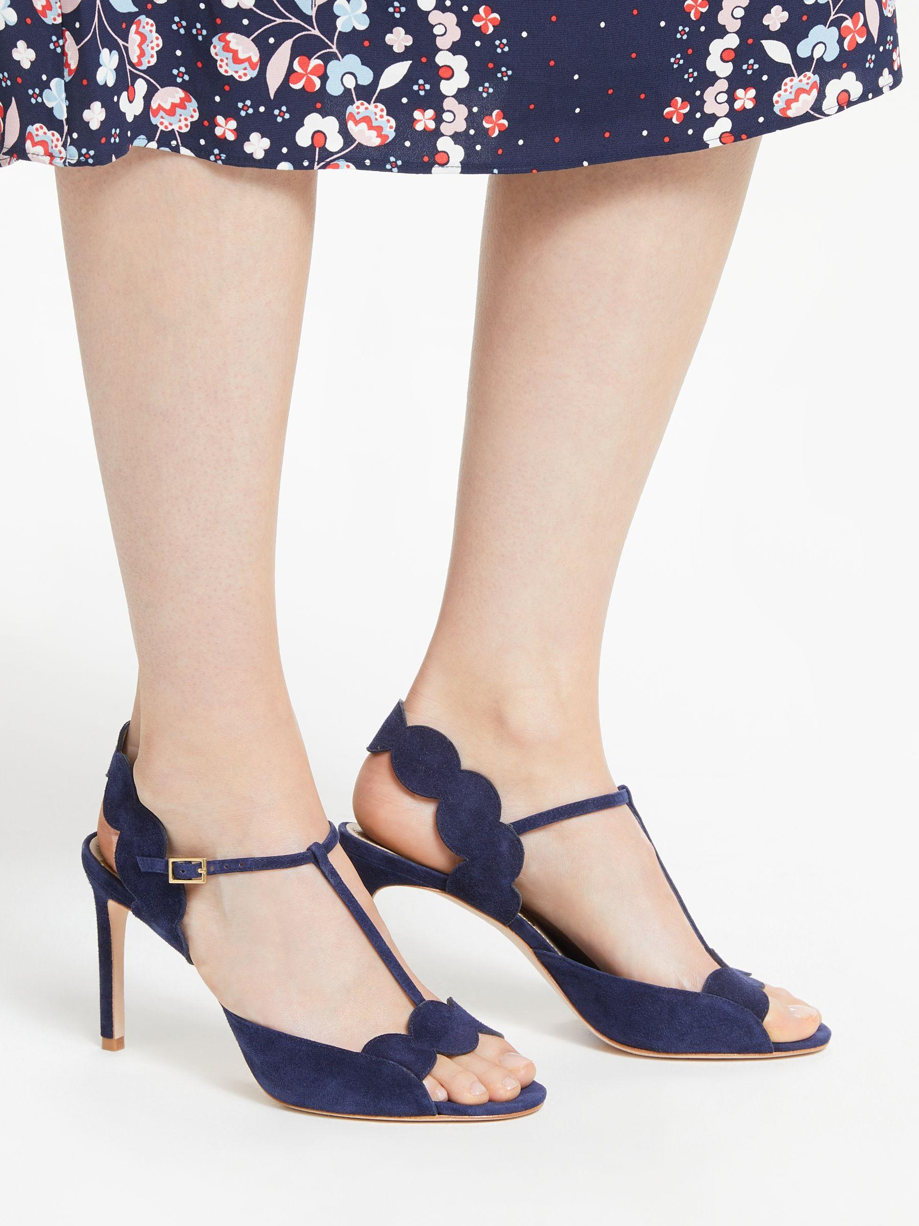 1834e4a87f26 Boden Cecile T-bar Heeled Sandals in Blue - Lyst