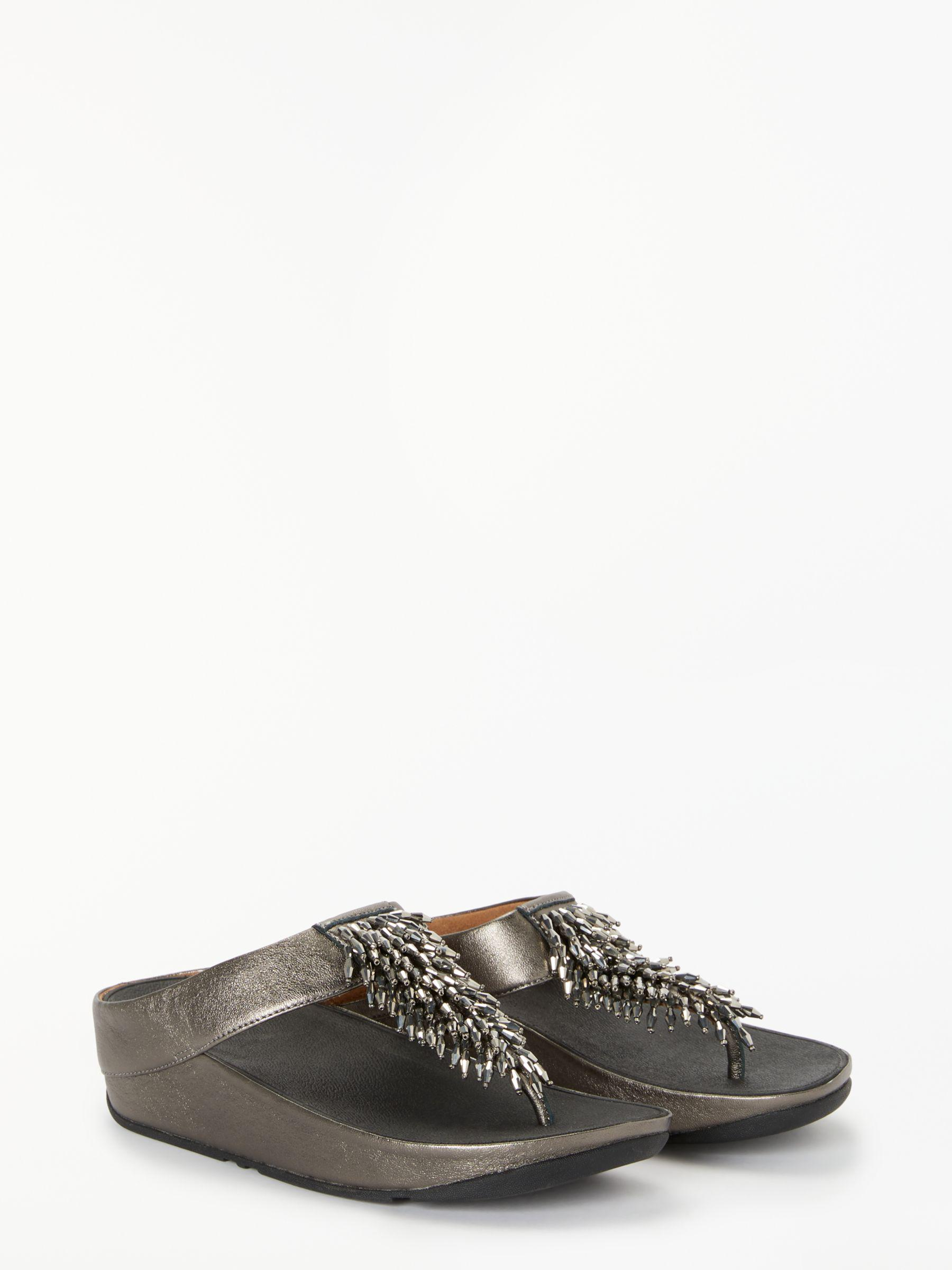 4c3843e3a Fitflop Rumba Embellished Toe Post Sandals - Lyst