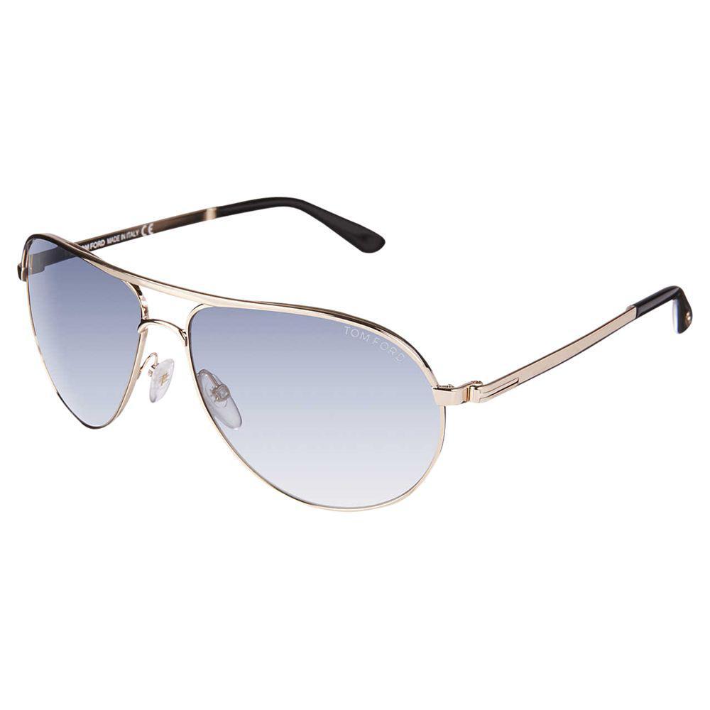 8087ecbe62a Tom Ford - Blue Ft0144 Marko Aviator Sunglasses for Men - Lyst. View  fullscreen