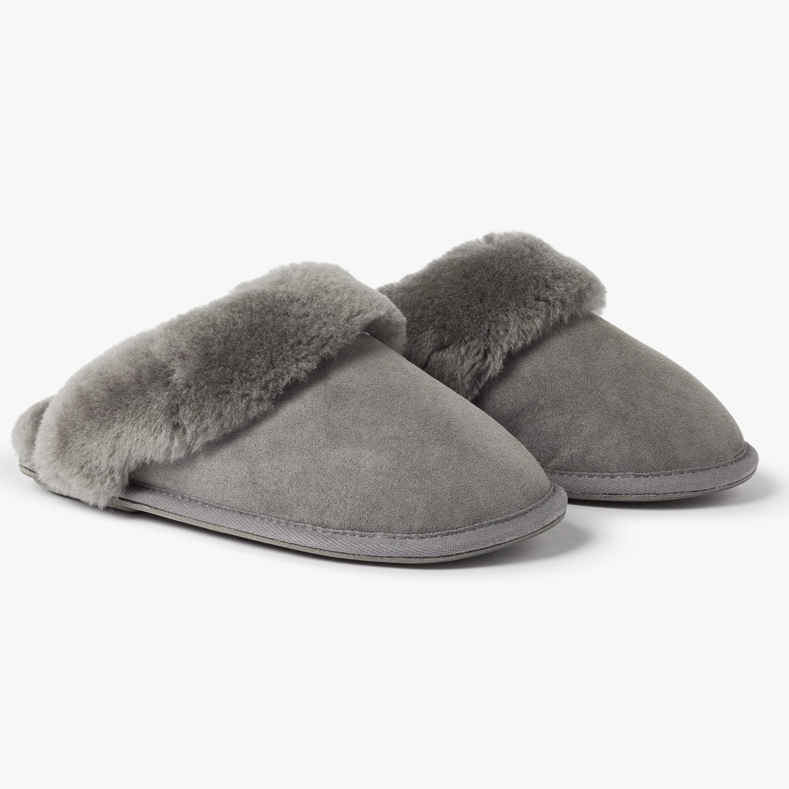 0a632c9a5f4a John Lewis Sheepskin Mule Slippers in Gray - Lyst