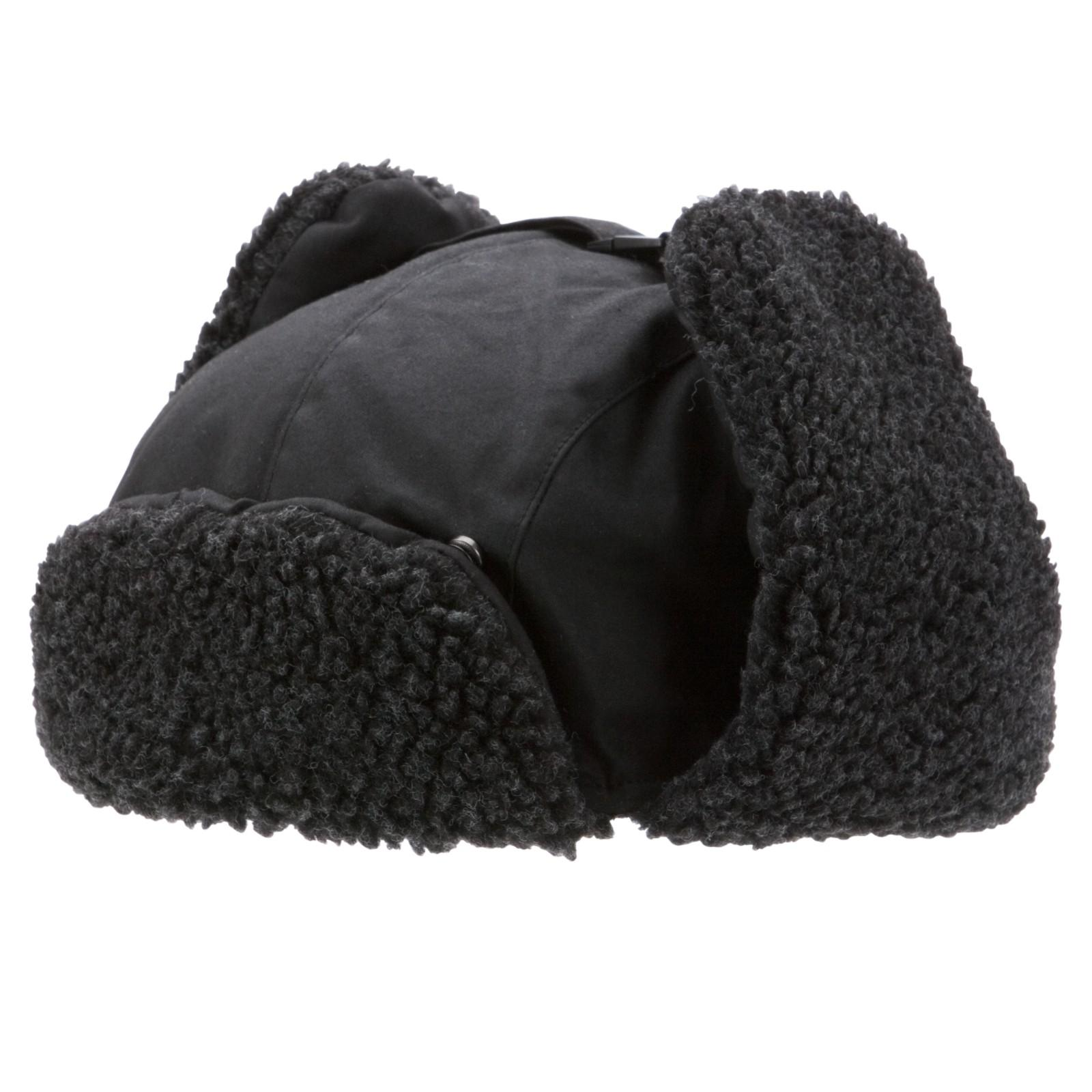 Barbour Trapper Hat With Fleece Lining In Black For Men Lyst