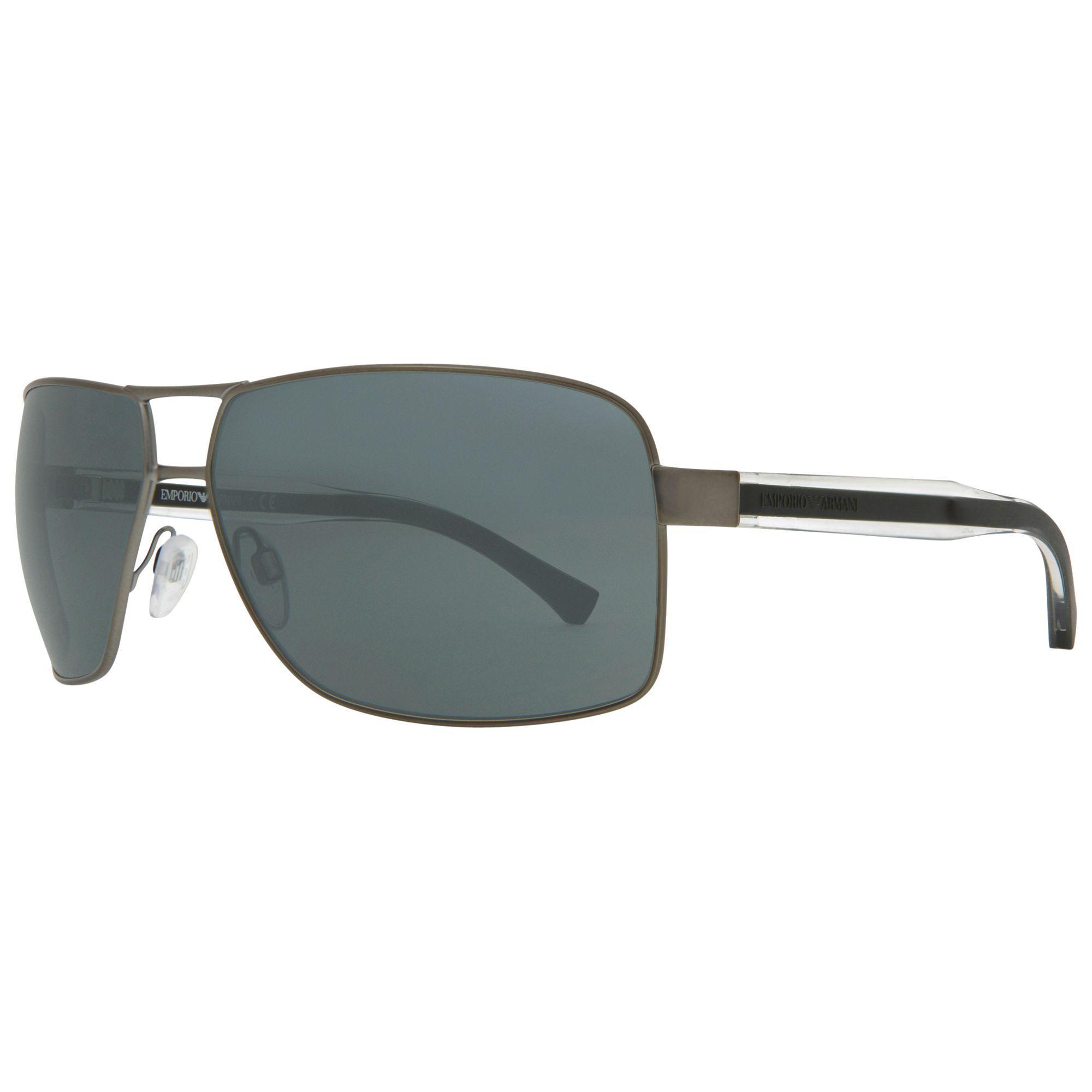 a727a8ea2235 Emporio Armani Ea2001 Rectangular Sunglasses in Gray for Men - Lyst