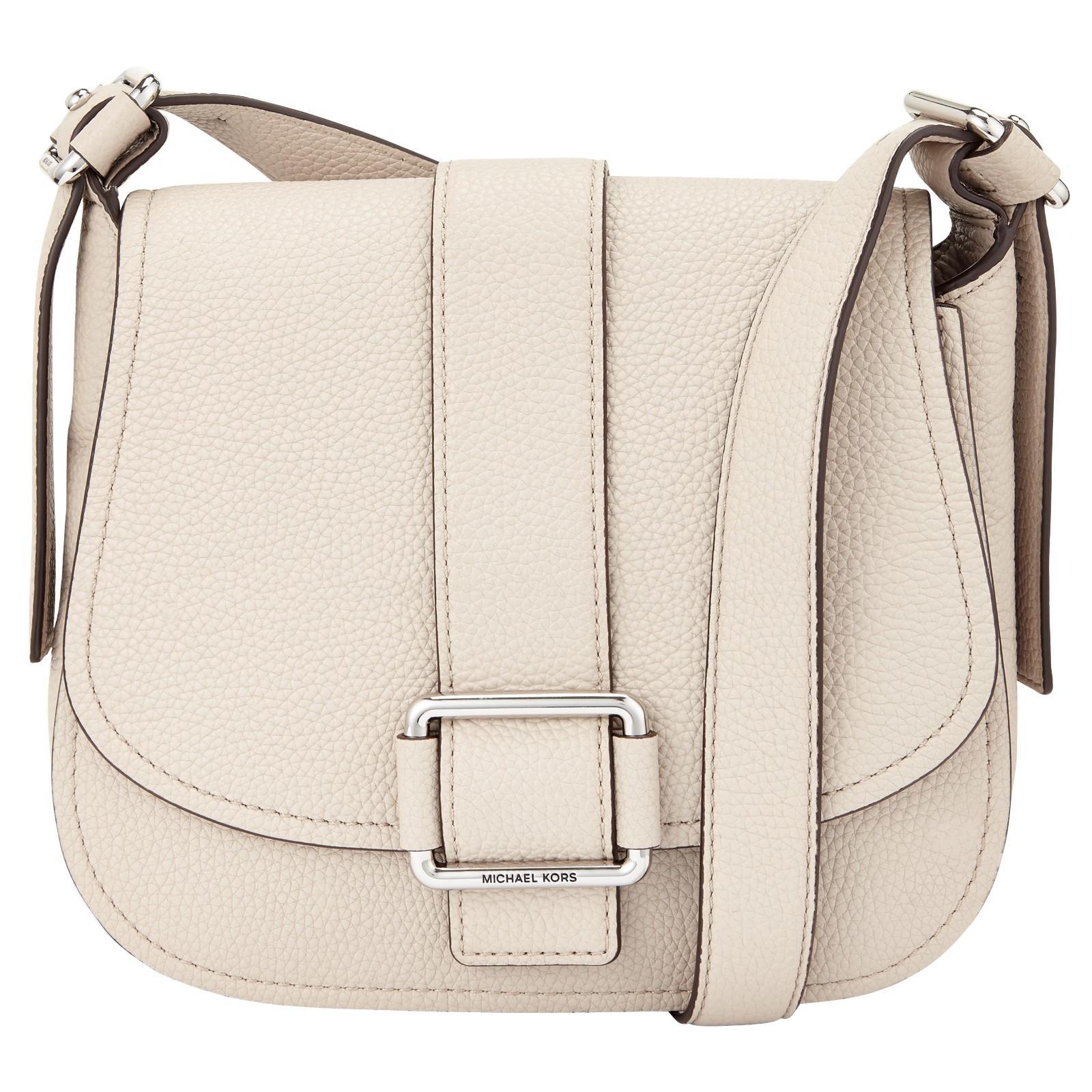 8ba0389e0752 Michael Michael Kors Maxine Large Leather Across Body Bag in Natural ...
