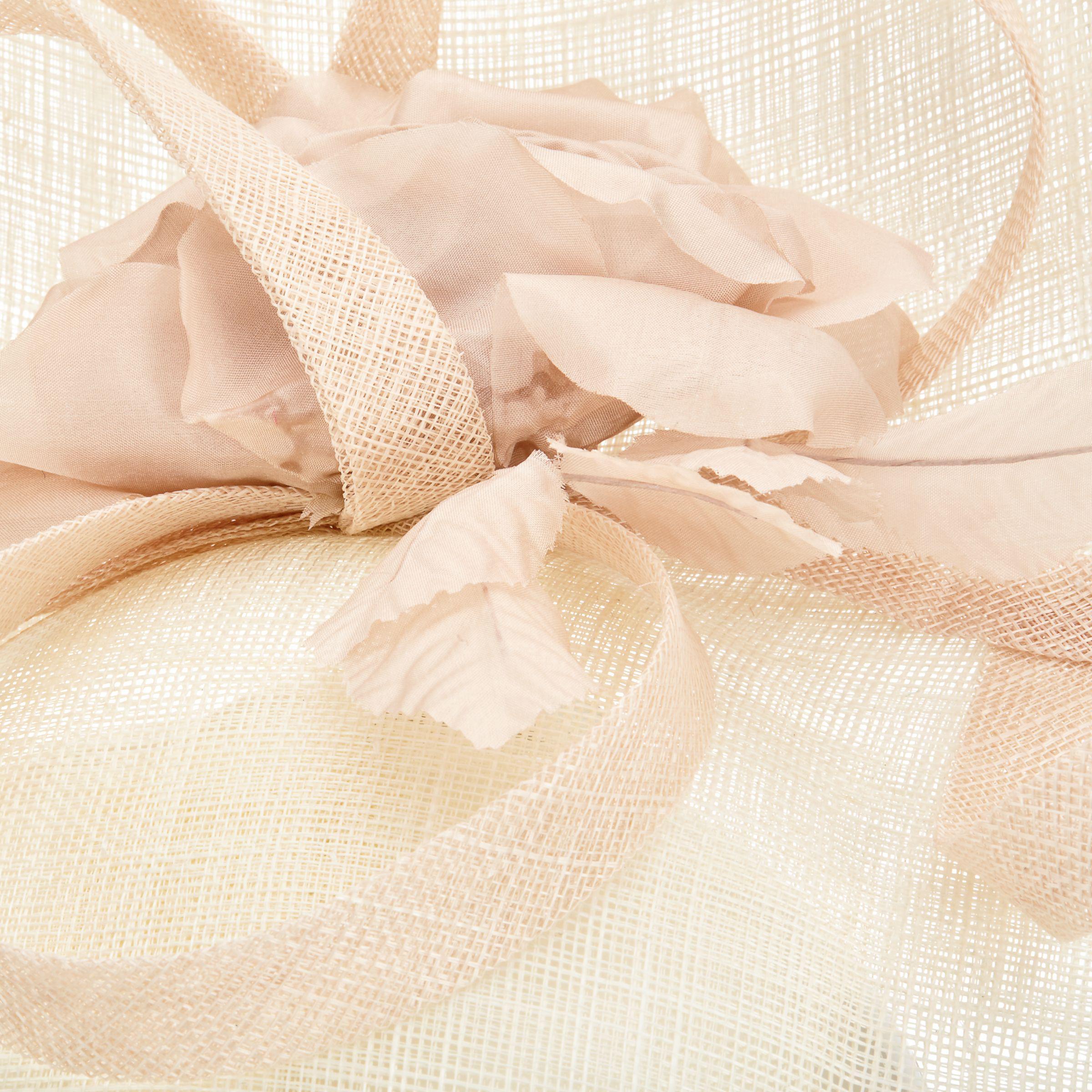 Lyst john lewis riya side up silk flower occasion hat in natural gallery mightylinksfo