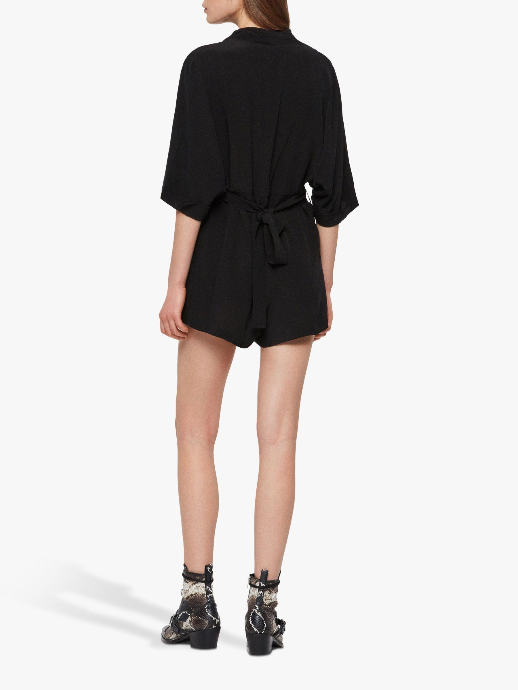 dd042dcaadb AllSaints Laurel Playsuit in Black - Lyst