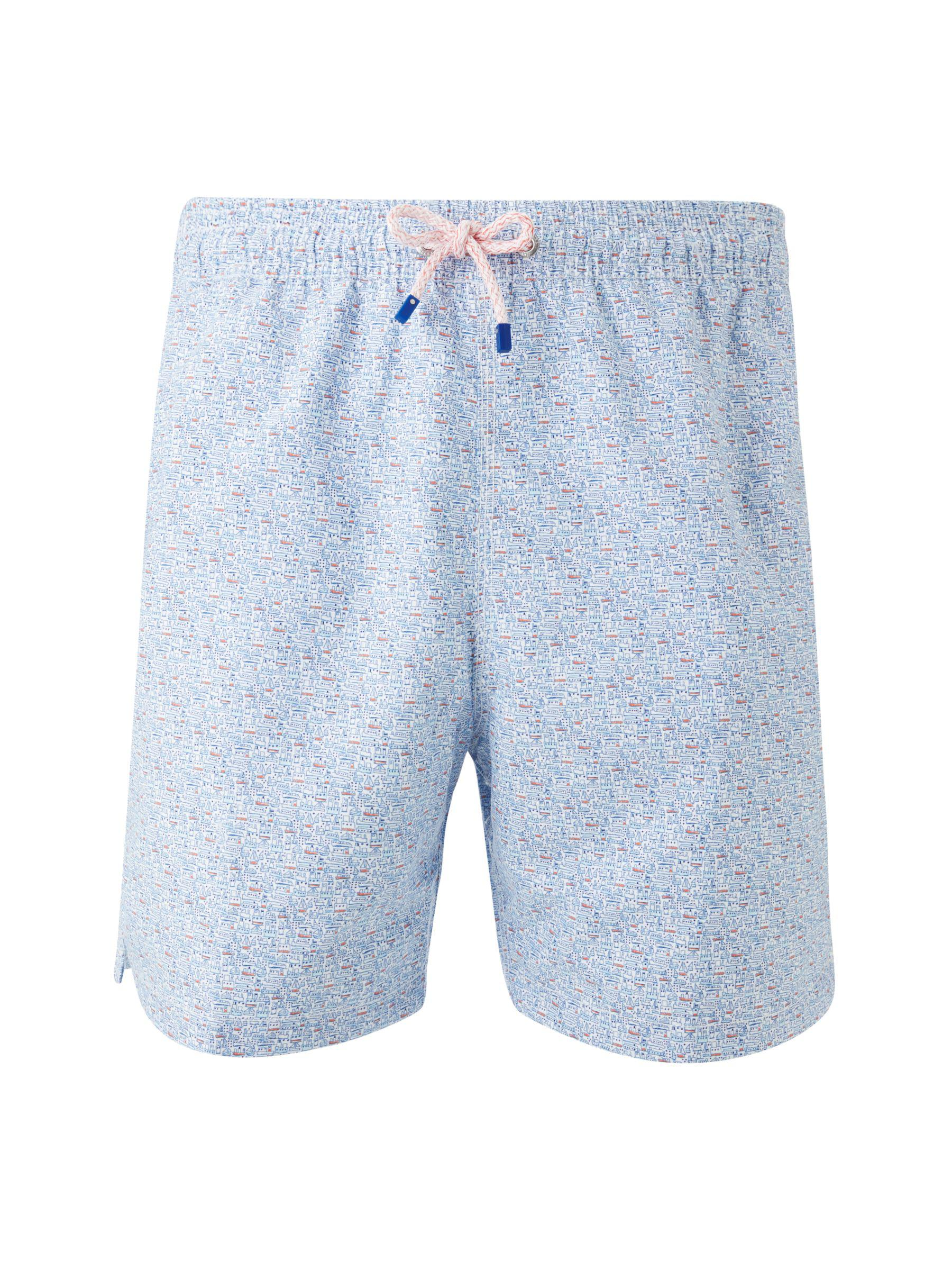 369eb0b866 Hackett Devon Scene Print Swim Shorts in Blue for Men - Lyst