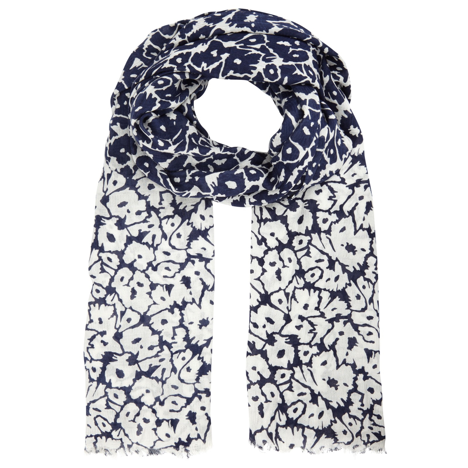 lewis reversible floral scarf in blue lyst