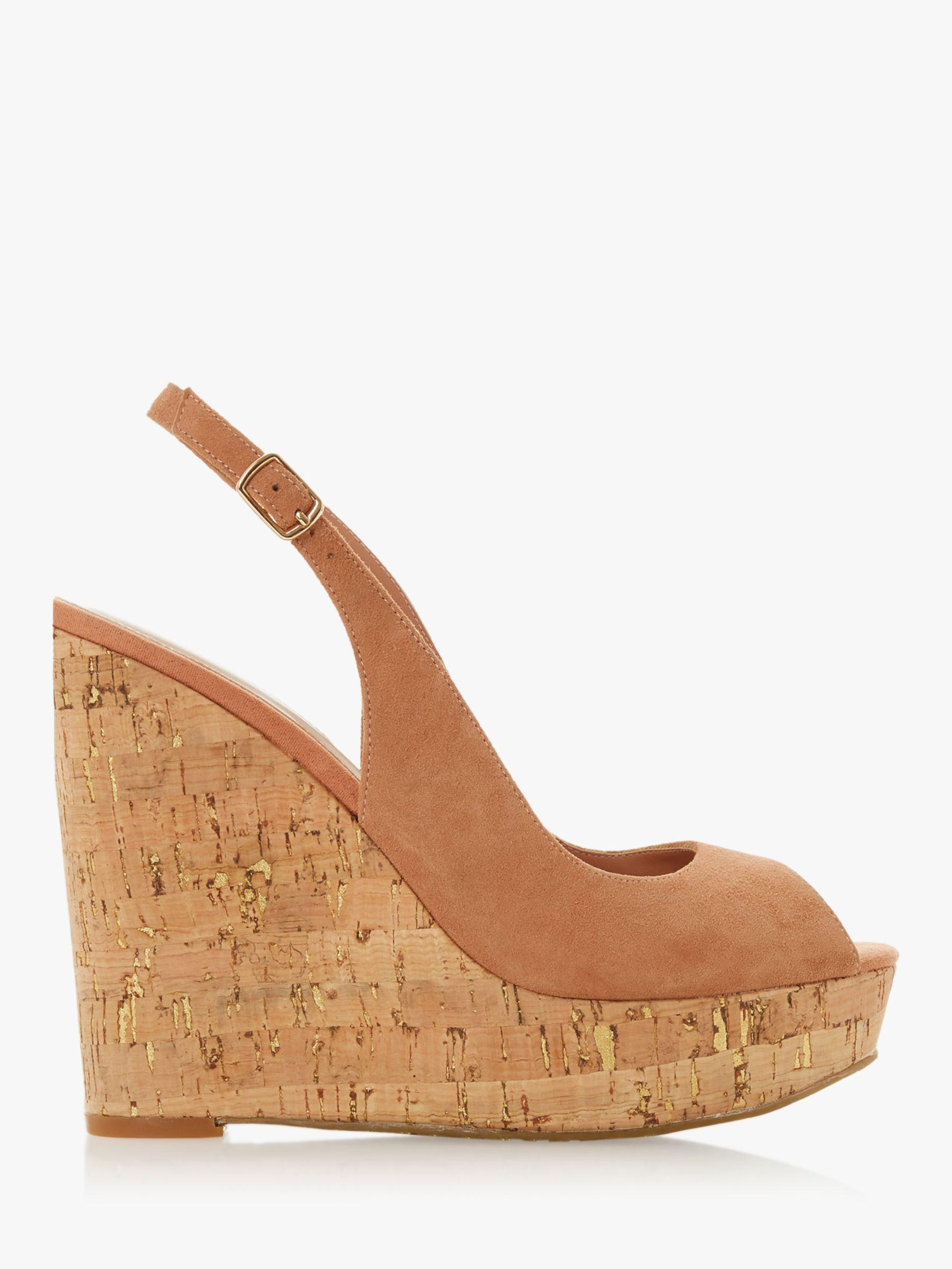 c4ce2be46ec Dune Kimmber High Wedge Sandals in Natural - Lyst