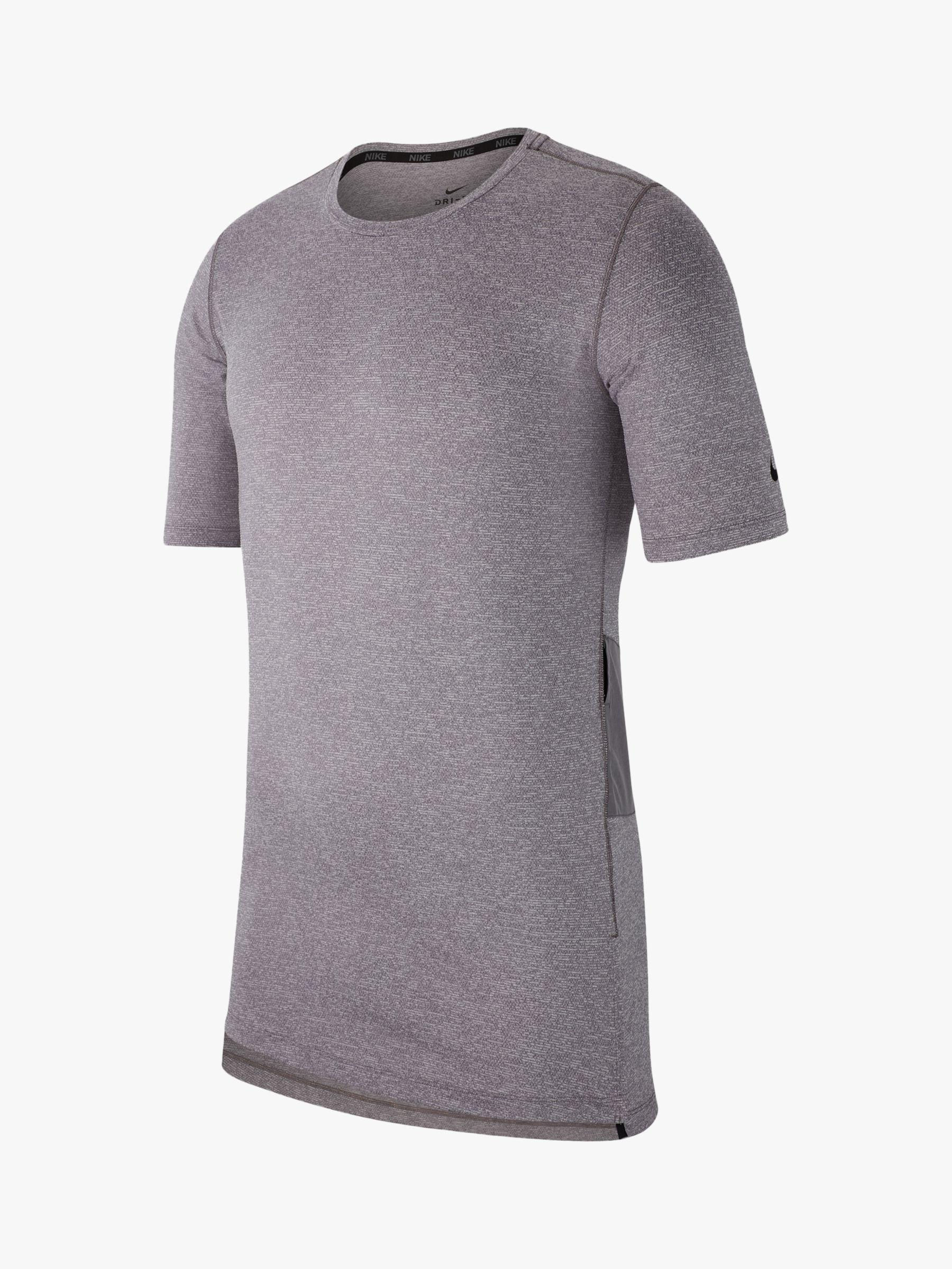 9a6a2ae5 Nike - Gray Short Sleeve Fitted Utility Training Top for Men - Lyst. View  fullscreen