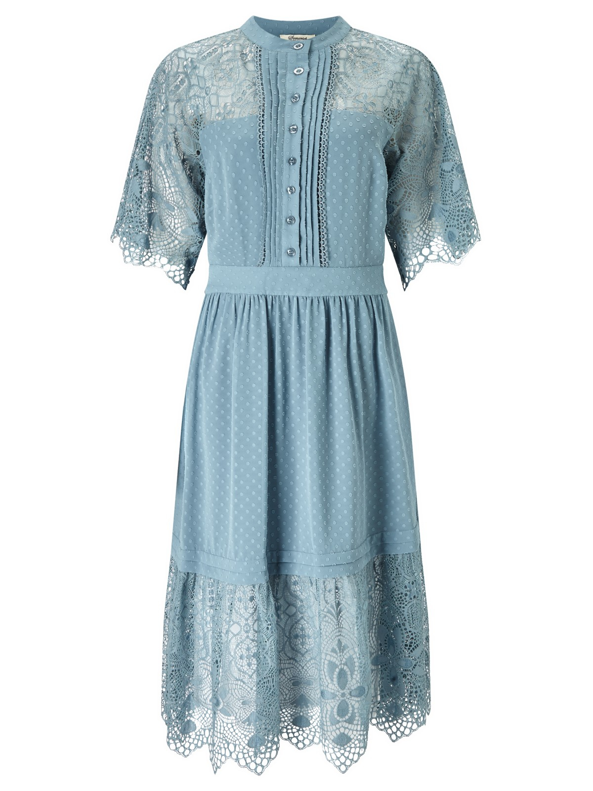 e3e9febb04d Somerset by Alice Temperley Lace And Spot Dress in Blue - Lyst