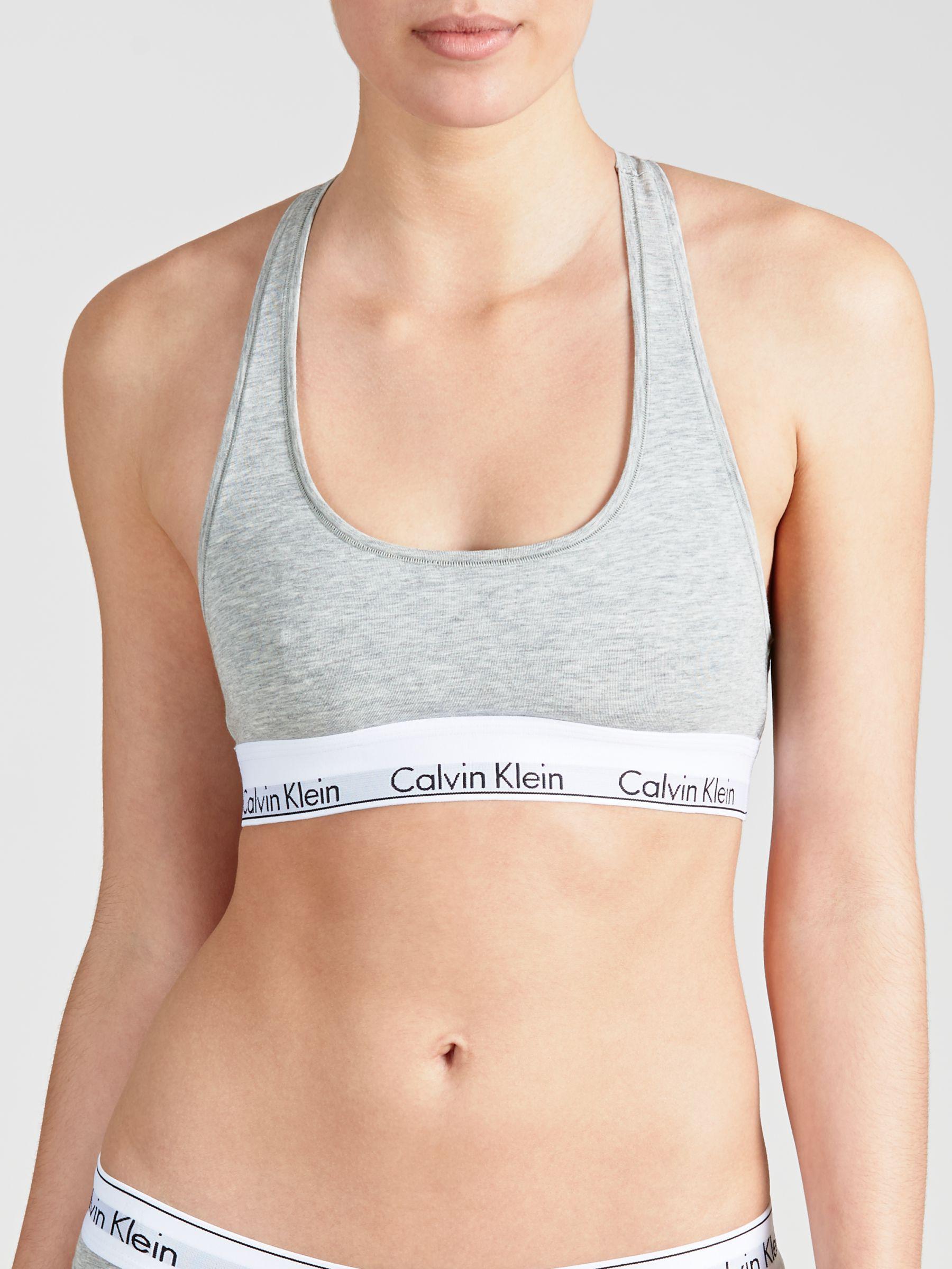 7493757670 Calvin Klein - Gray Underwear Modern Cotton Bralette - Lyst. View fullscreen
