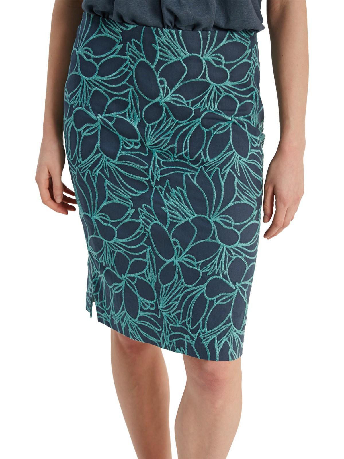 d81b1d4090 White Stuff Navya Flower Embroidery Skirt in Blue - Lyst