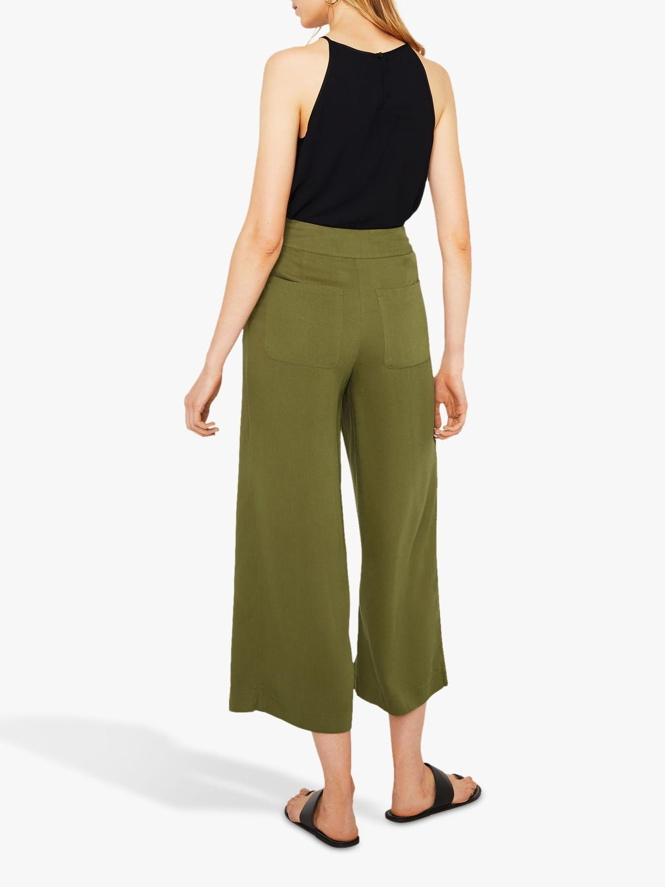 e65dbd0e8a0c Warehouse Cropped Trousers in Green - Lyst